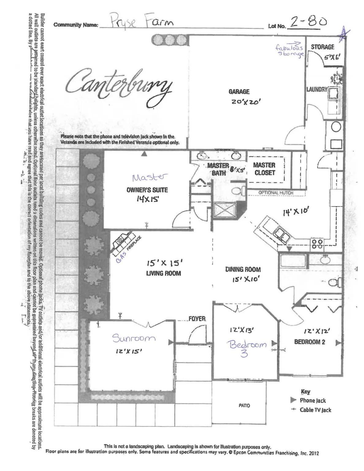 Pryse Farm Floor Plan