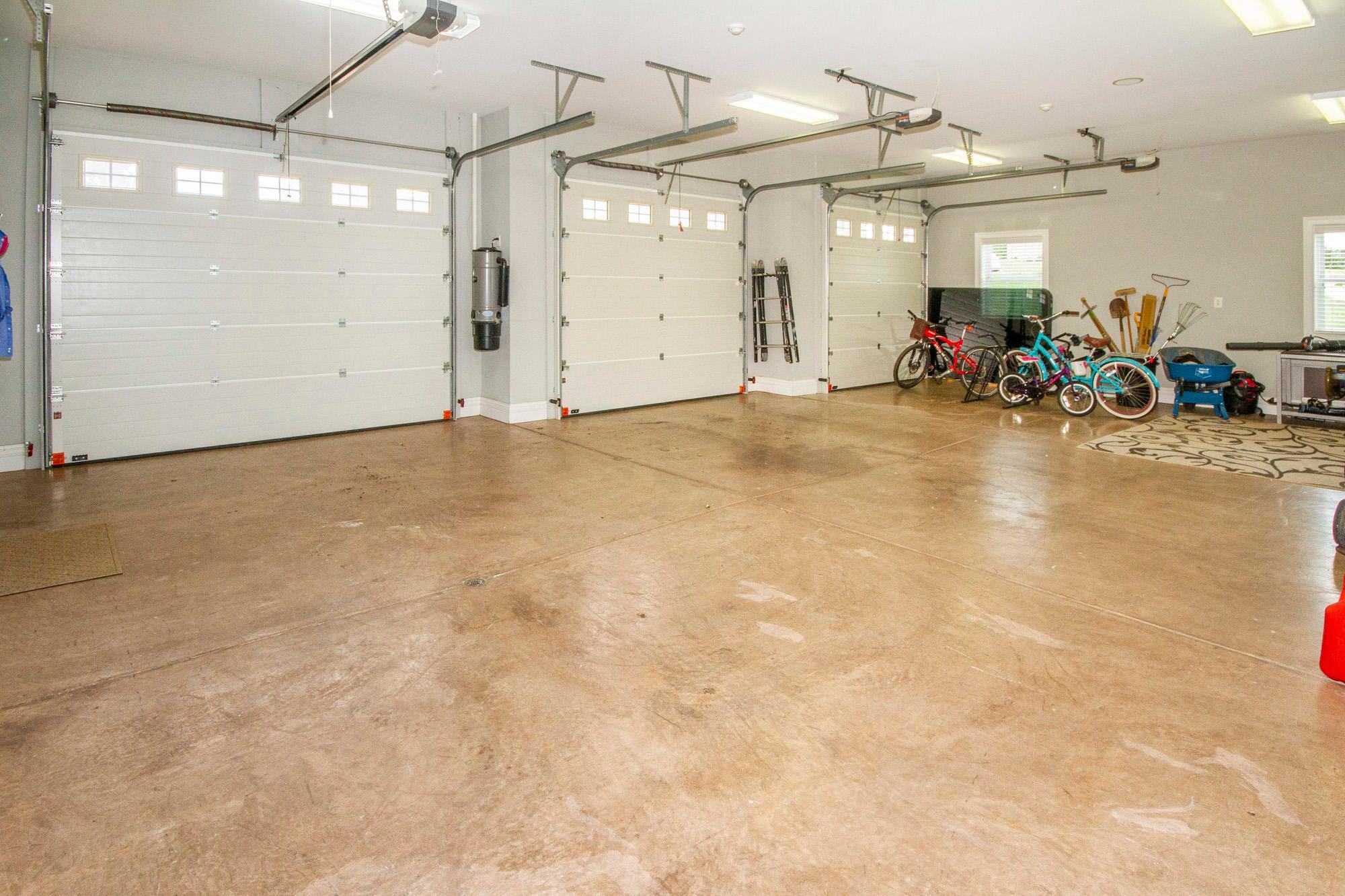 Extra Wide Doors & Floor Drains