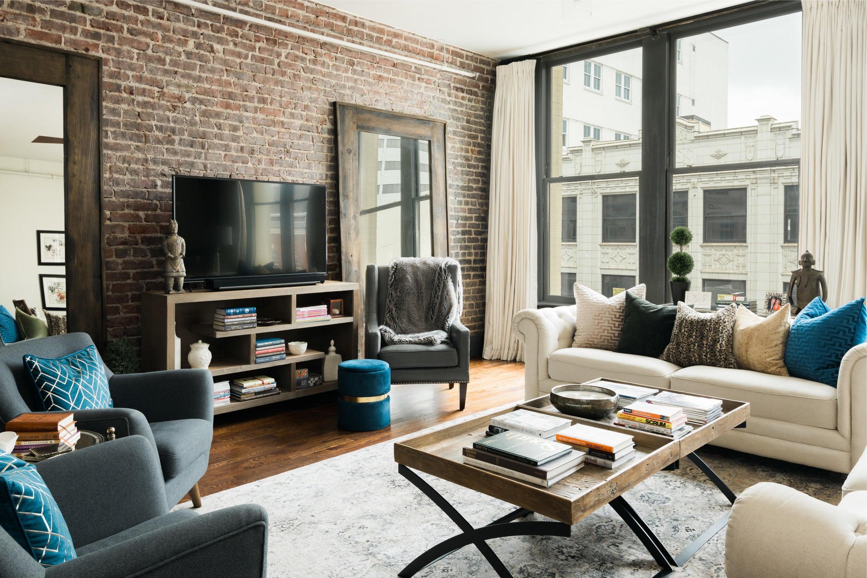 Living Room and Kress Bldg