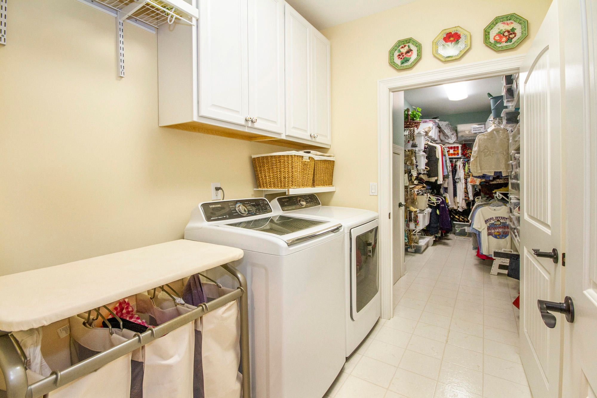 Laundry Connects to Master Closet!