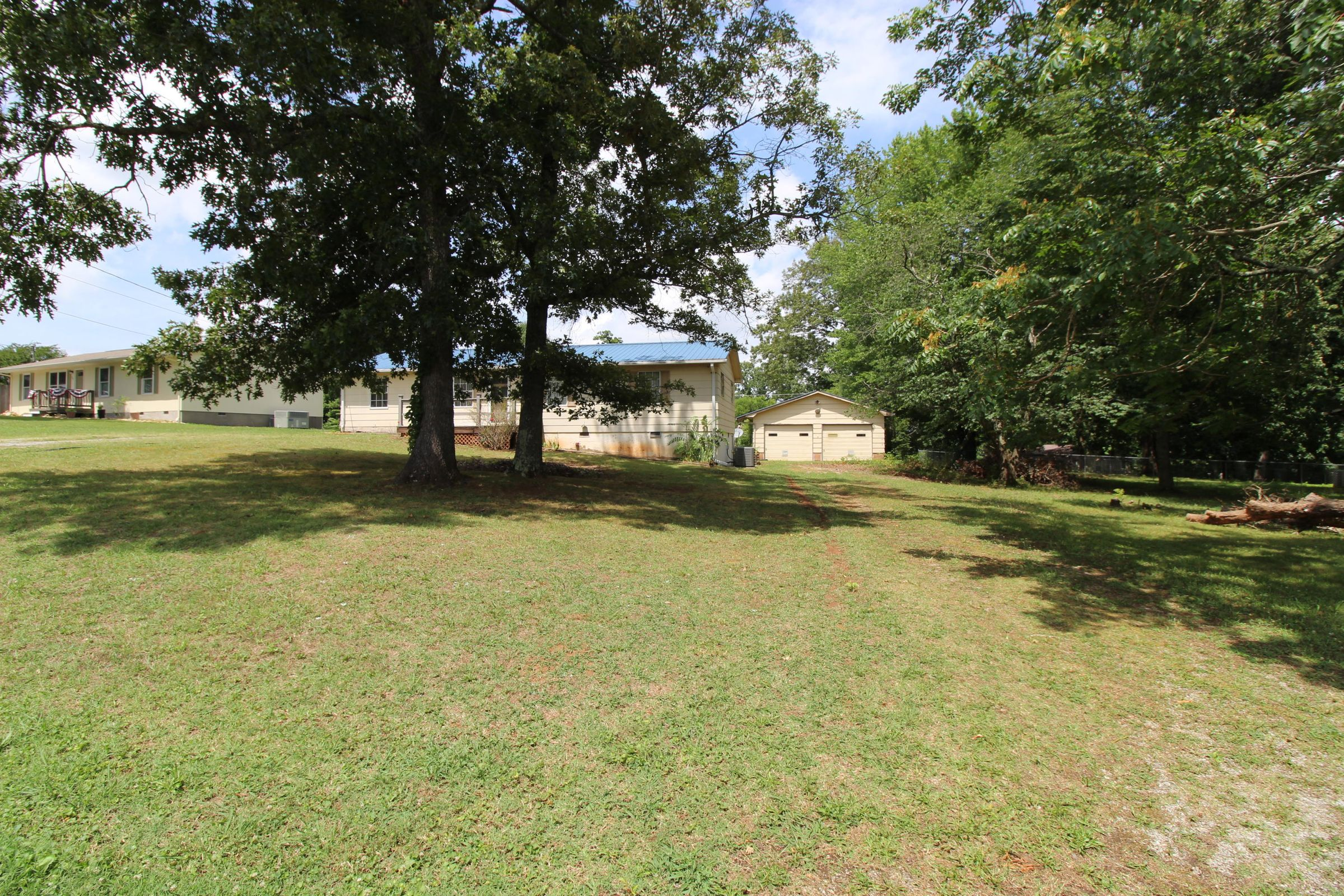 Large front and large back yard