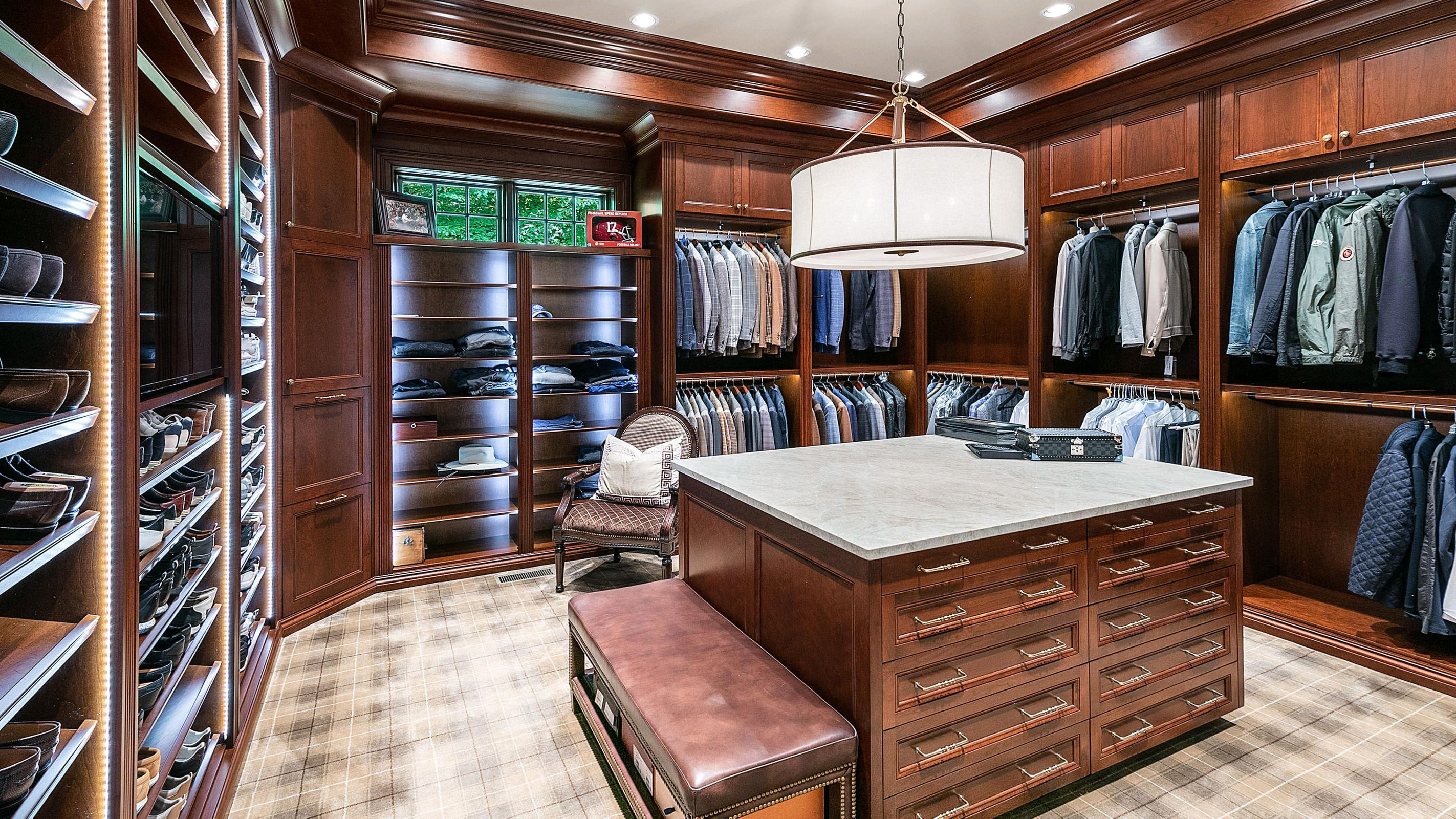 his walk-in closet