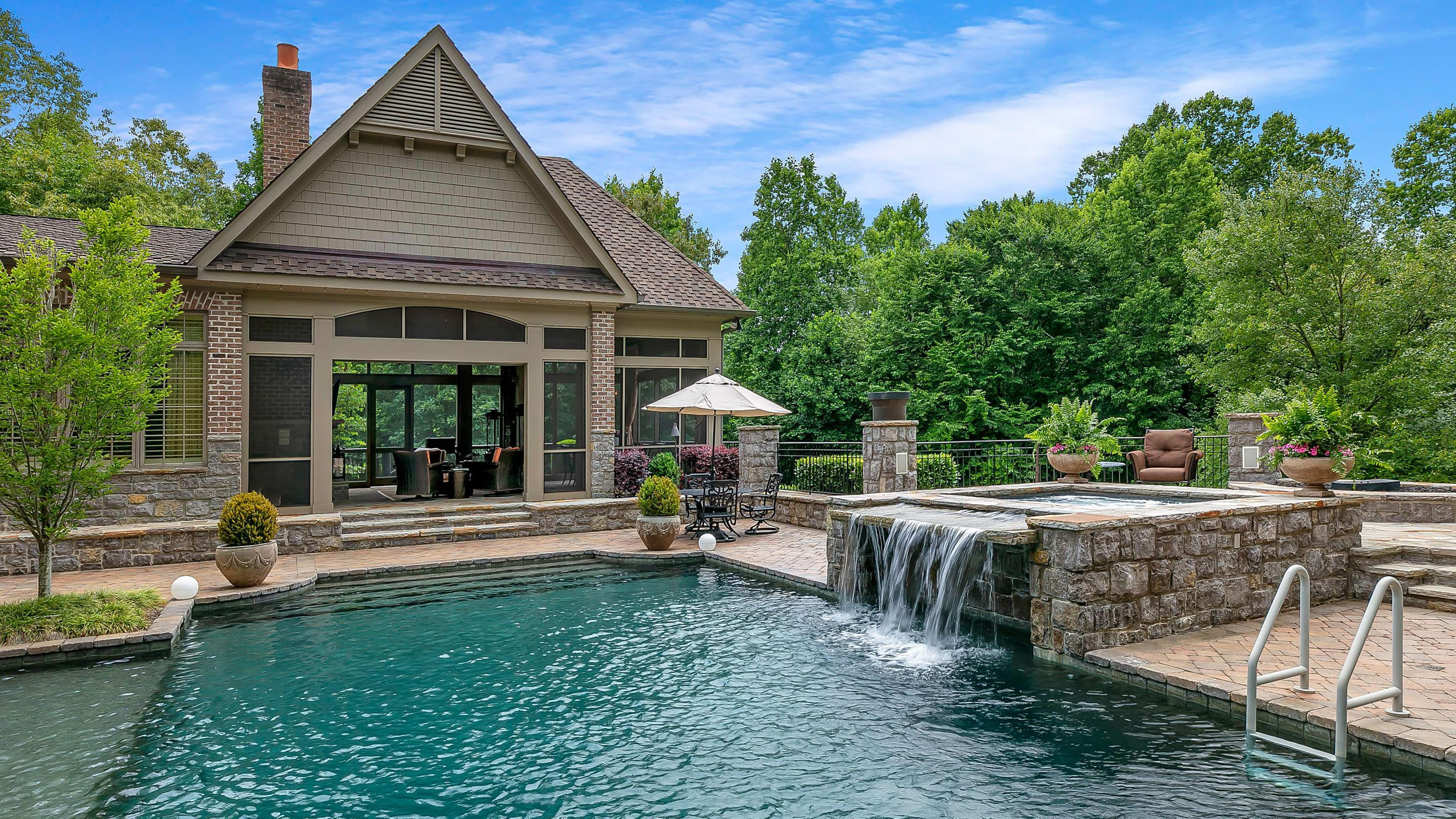pool and screened porch
