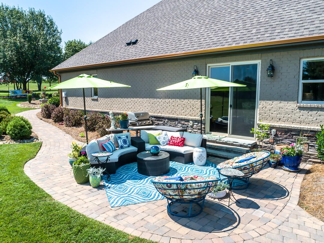 Paver Patio with Quick Connect for Grill