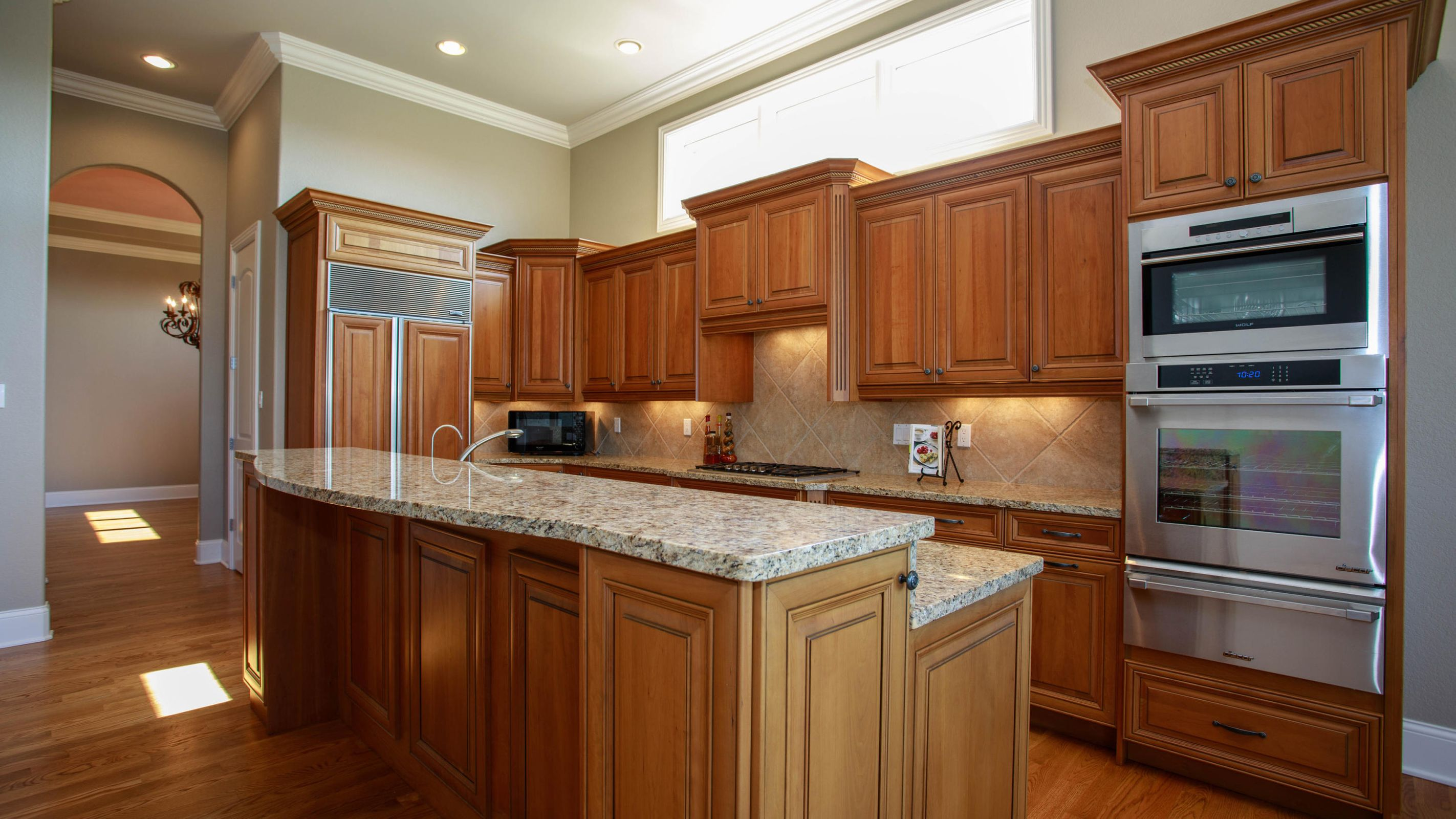 Gourmet kitchen with upgraded appliances