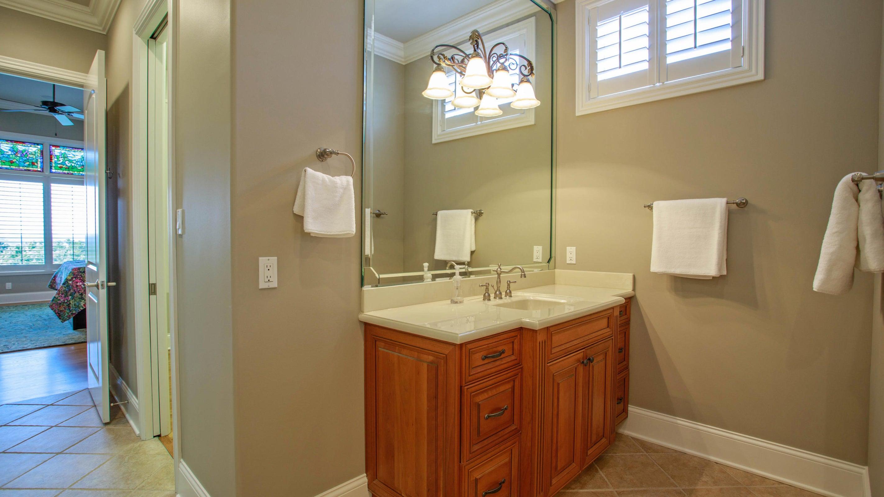 Double vanities and walk-in shower