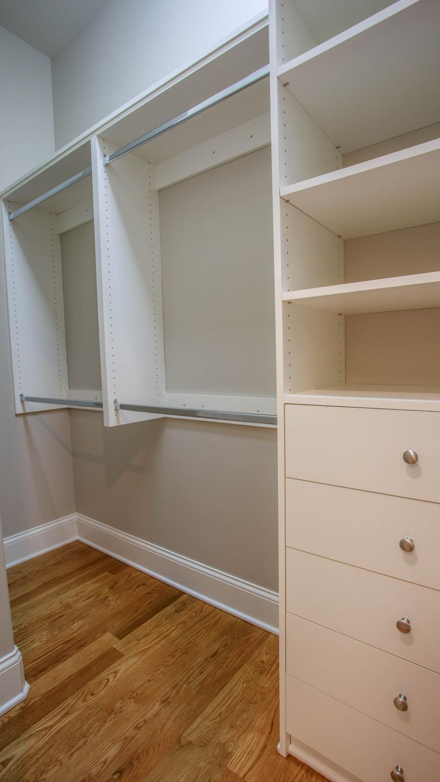 Custom built-ins in each closet