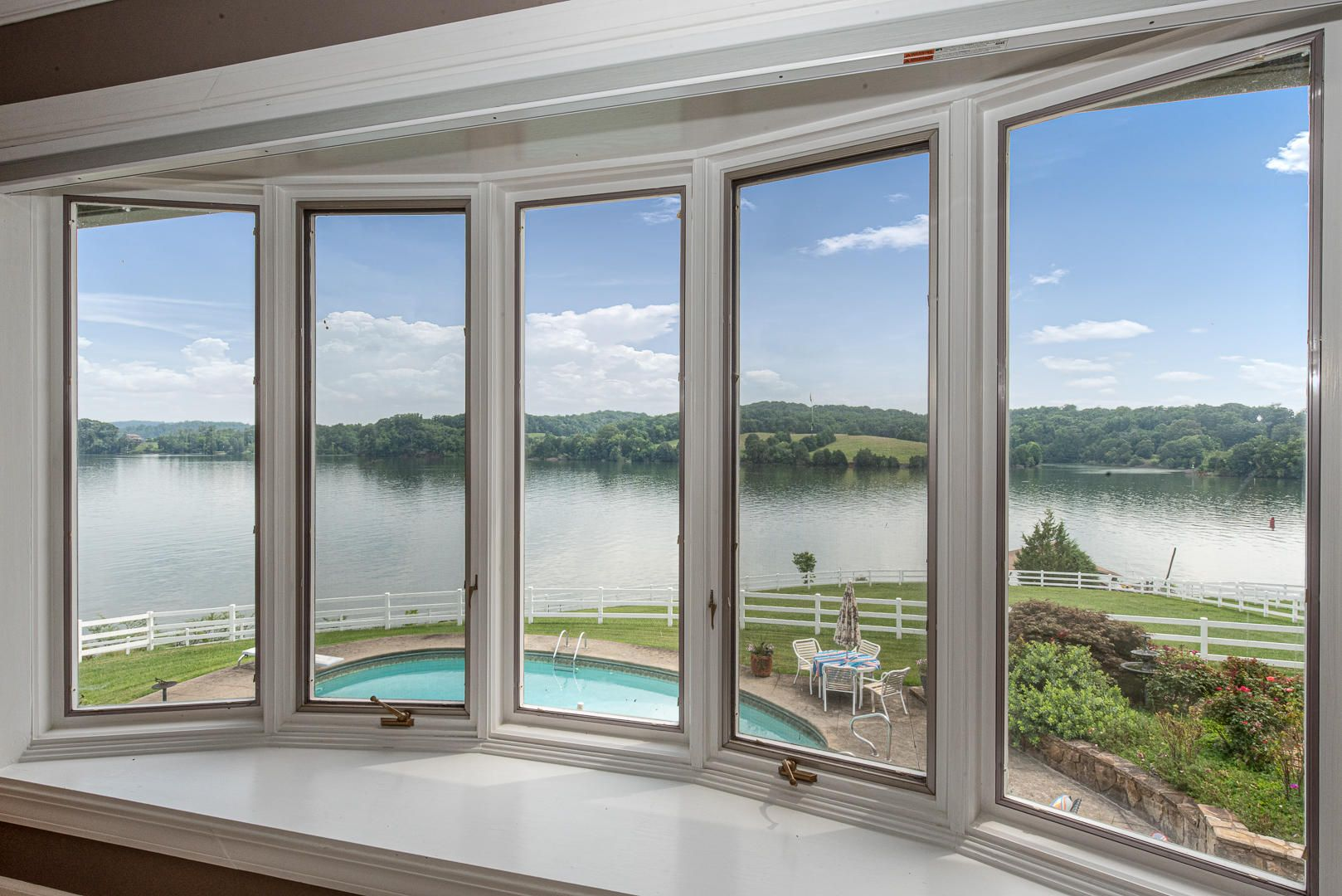 View from master bedroom bay window