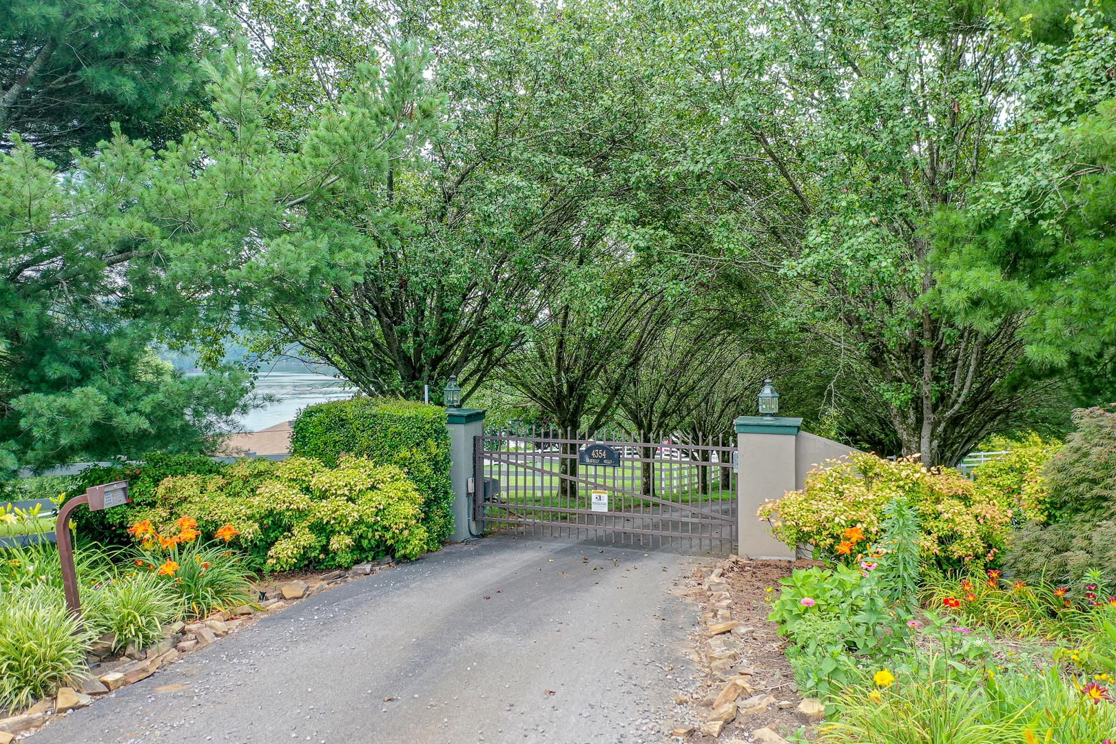 Gated property with keypad entry