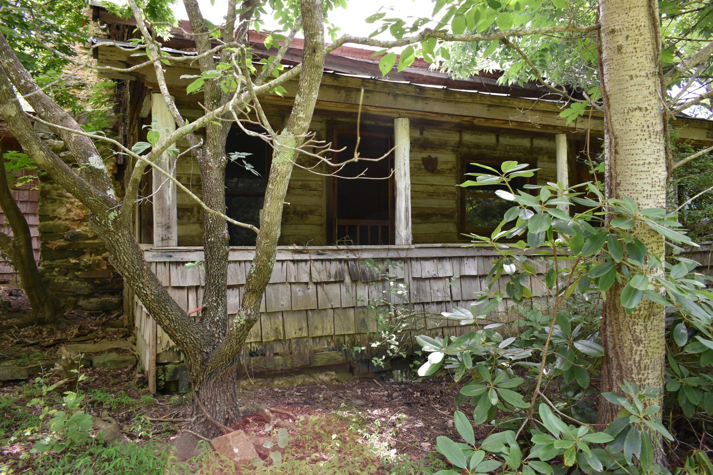 Rustic guest cabin