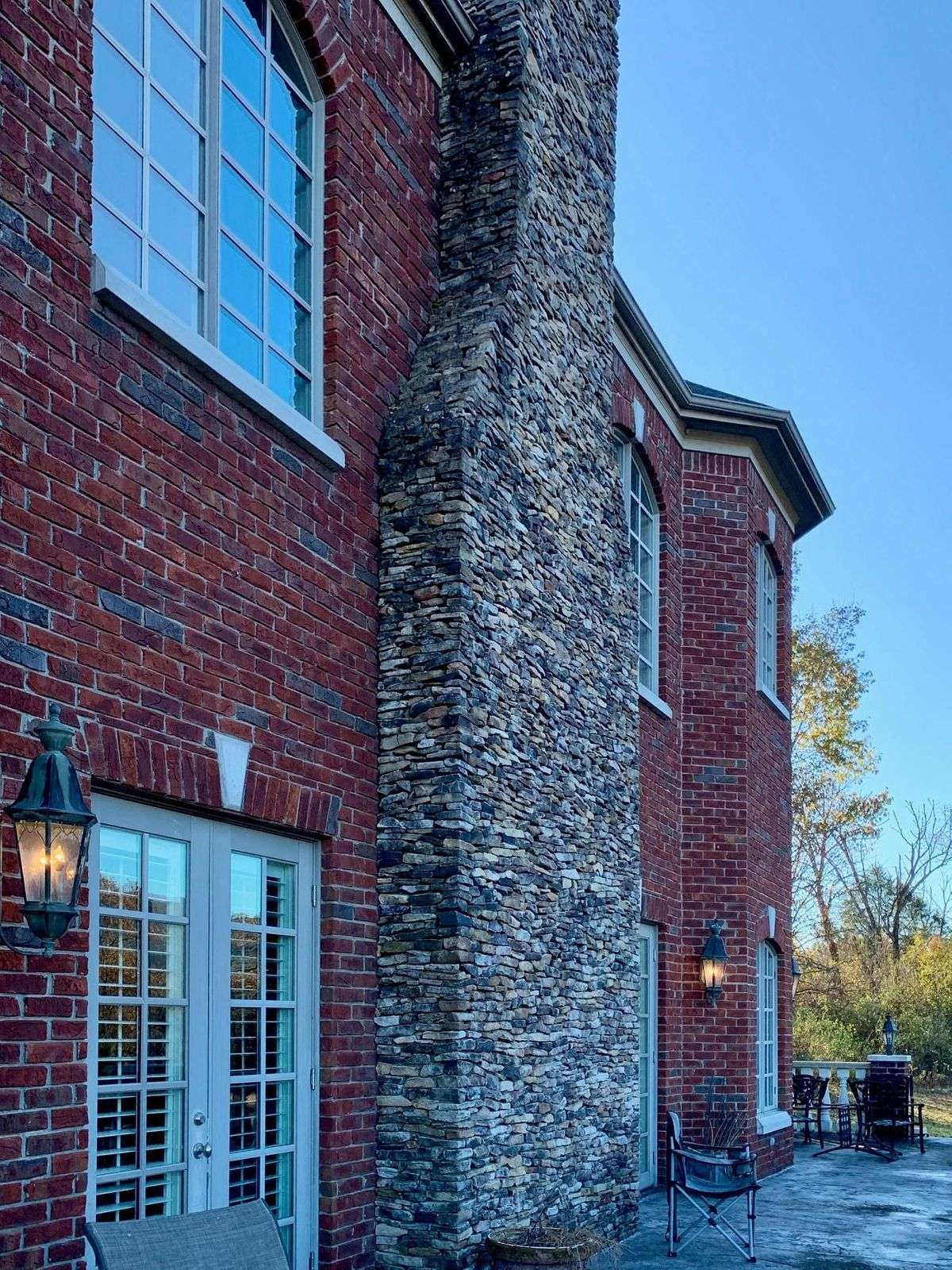 Back chimney on upper patio