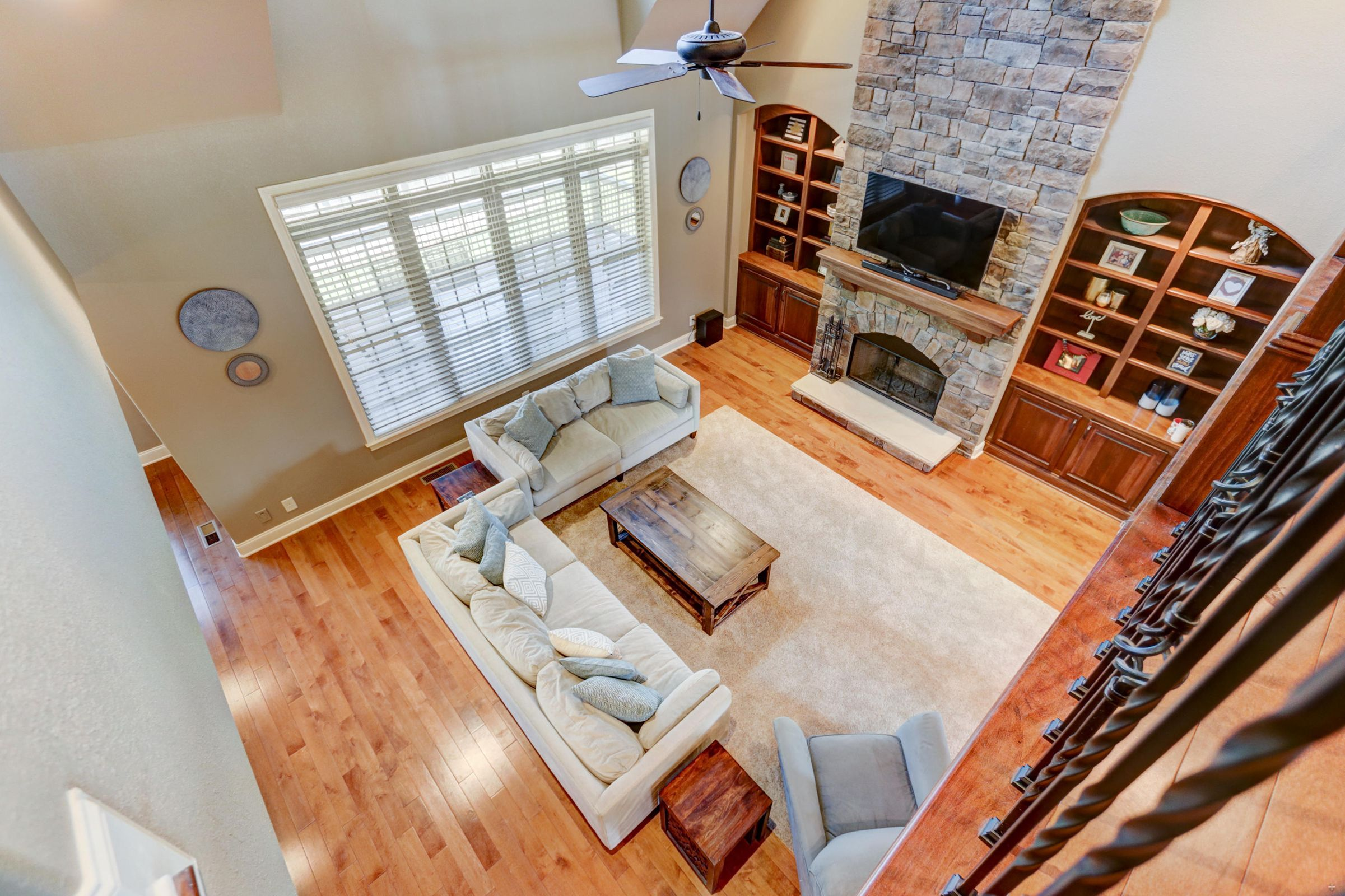Living Room View From Above
