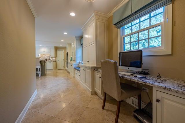 Built-In Desk Nook in Kitchen Hallway