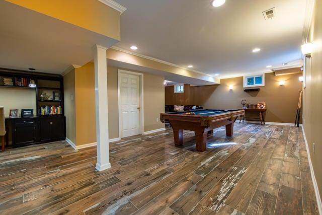 Billiards/Rec Room in Basement