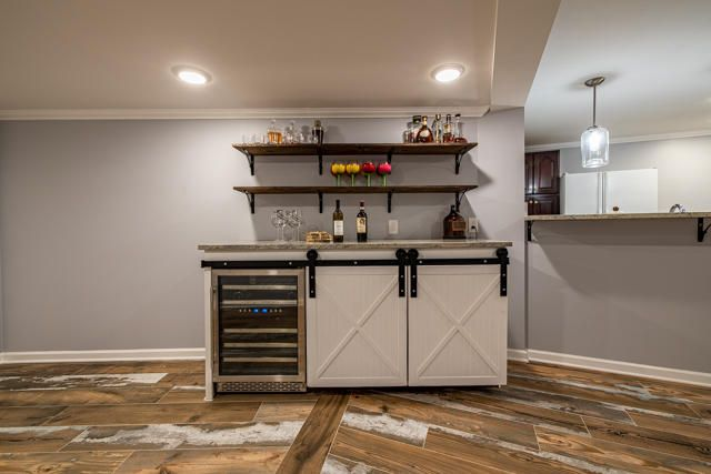 Cocktail Station in Basement