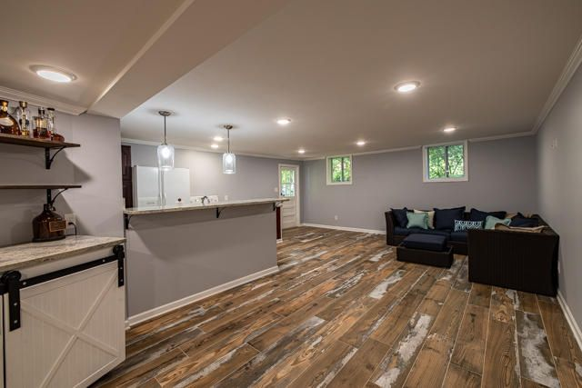Living Room in Basement