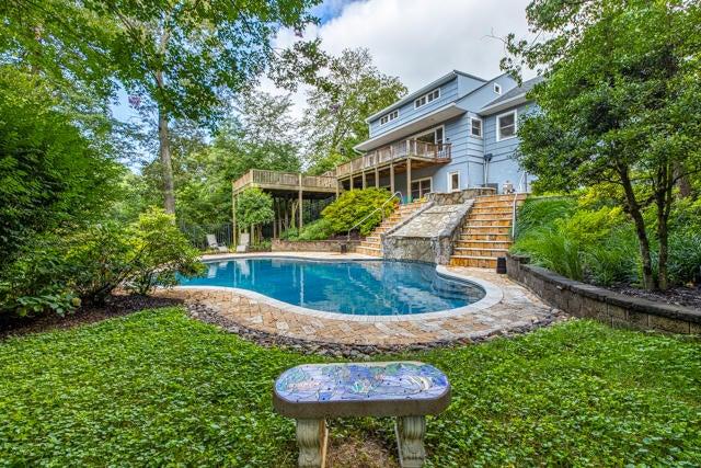 Pool from Backyard