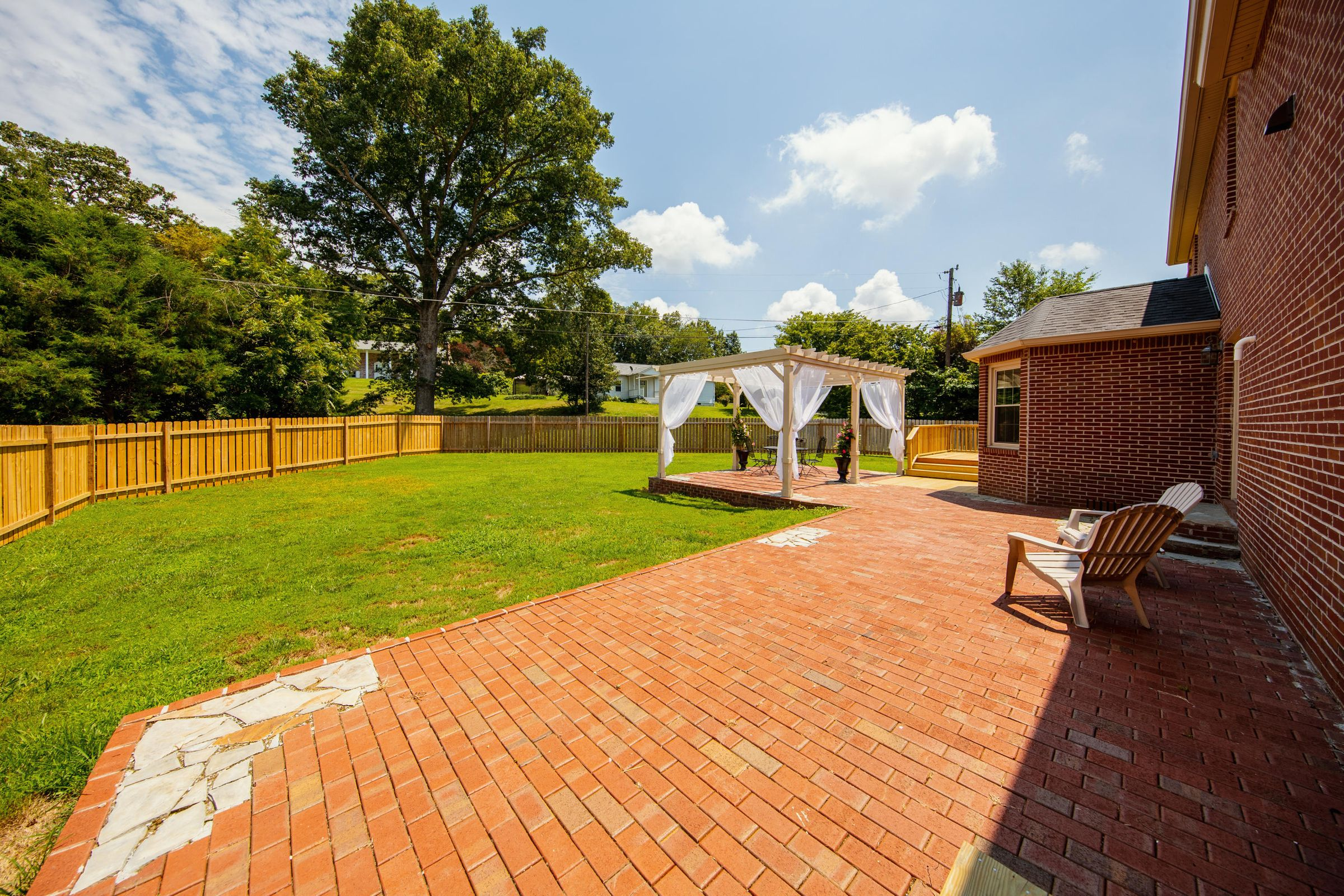 Brick Patio with seating area