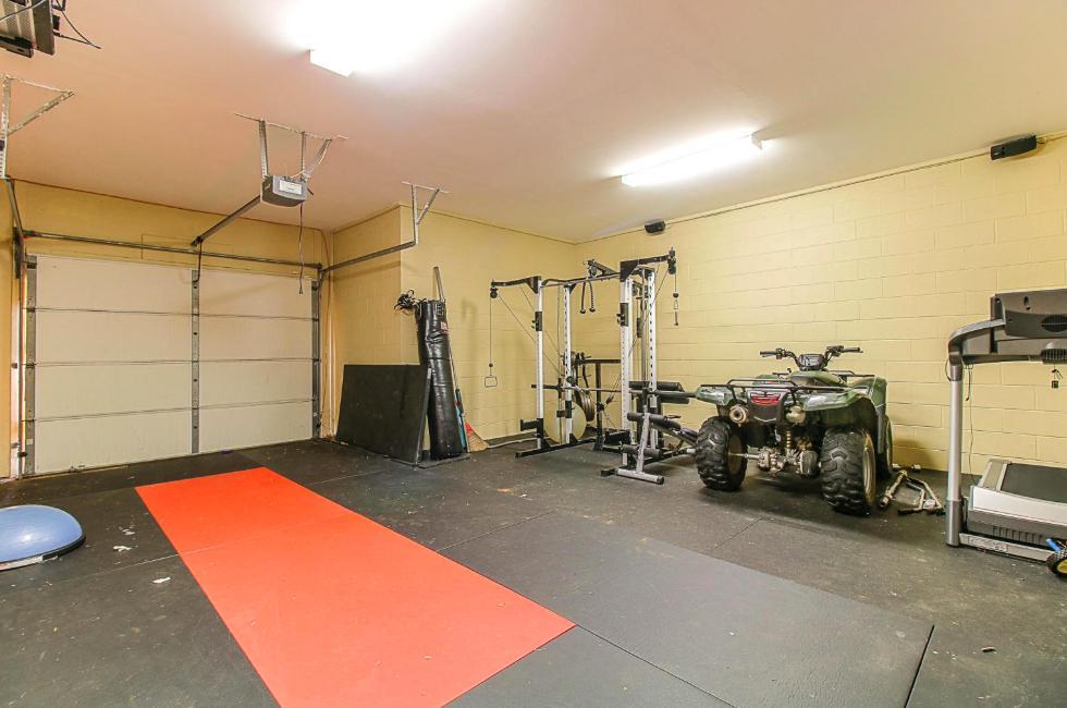 Workout Room/Lawnmower Garage