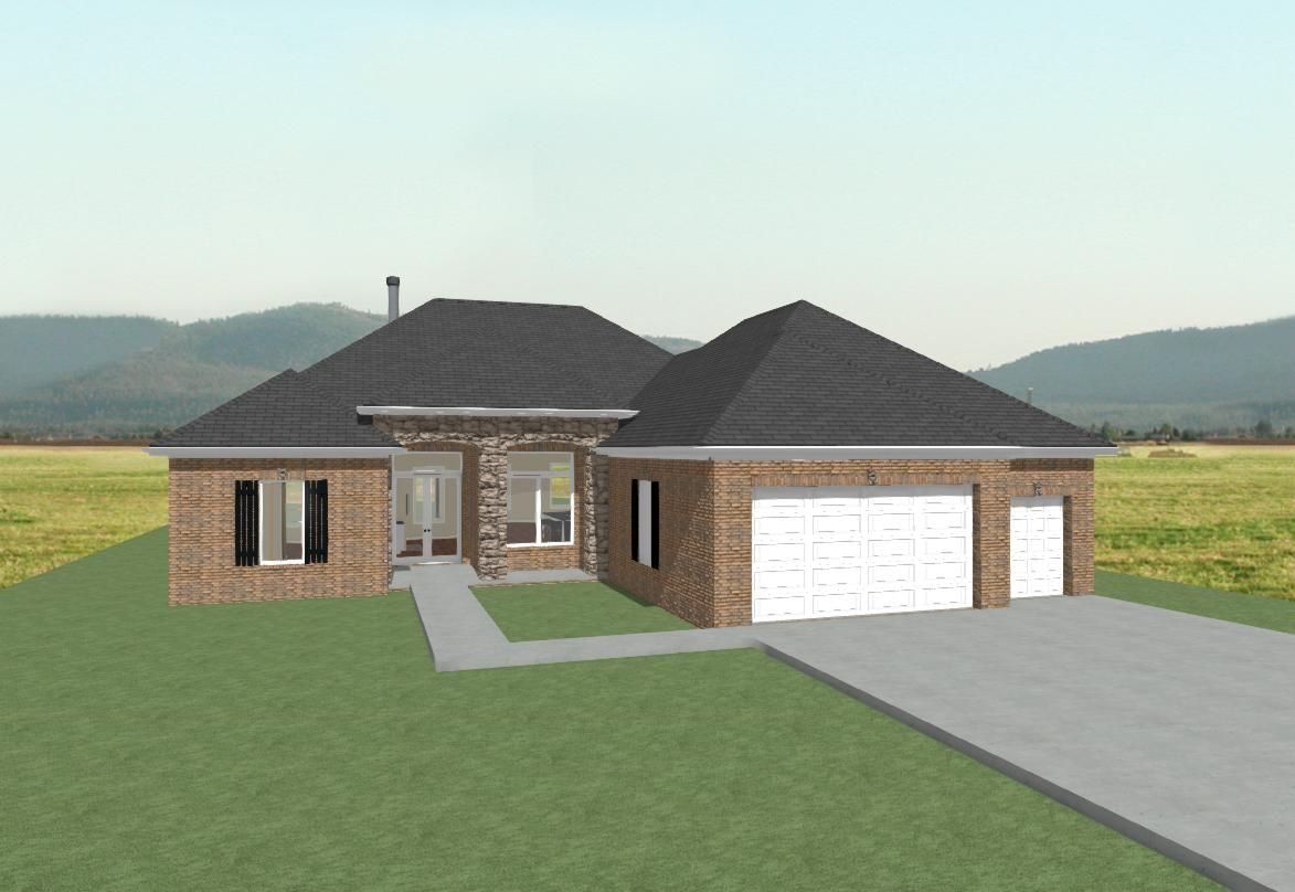 ALL BRICK HOME W/ HIP ROOF