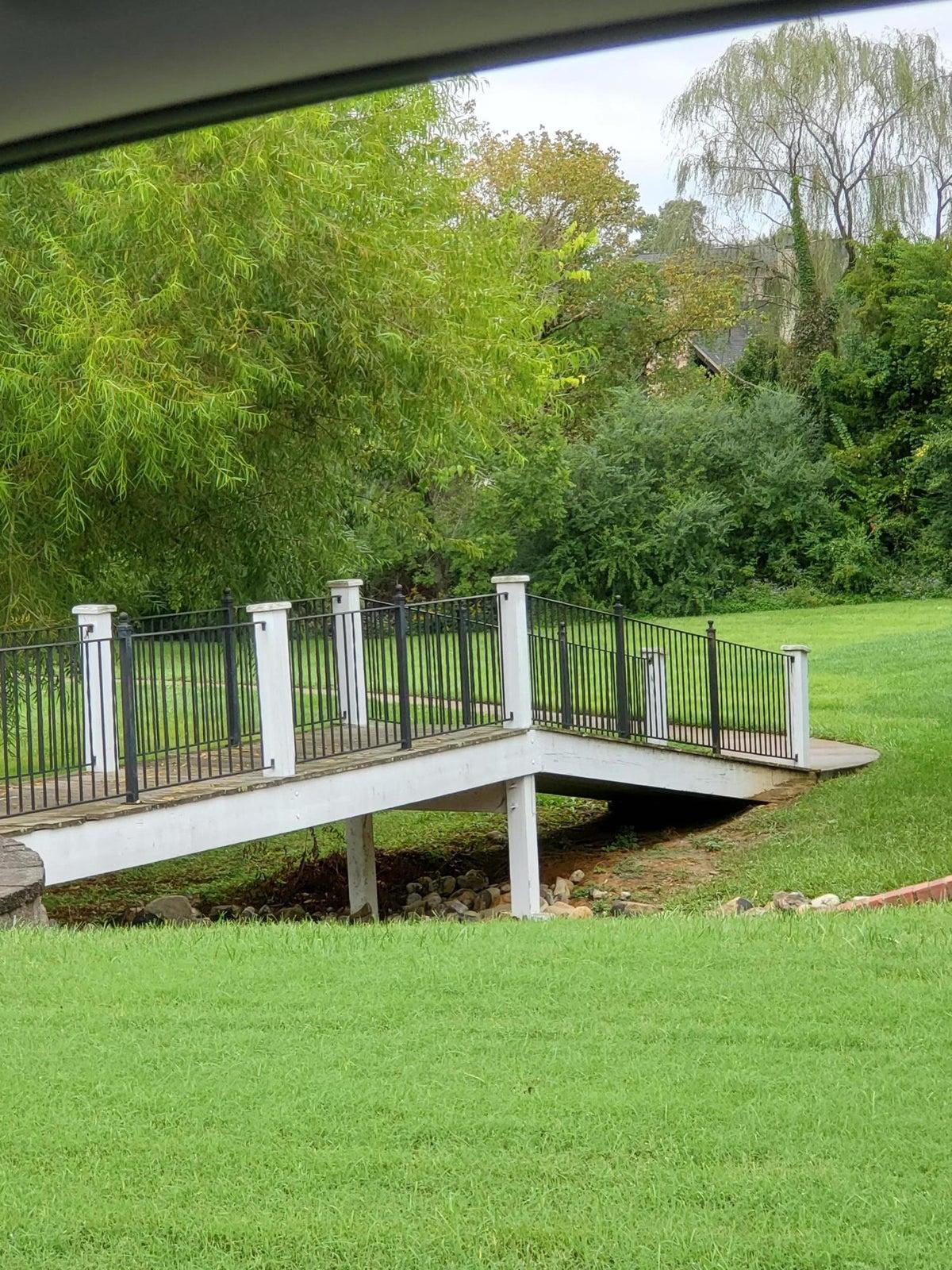 Bridge to Common Area nd lake