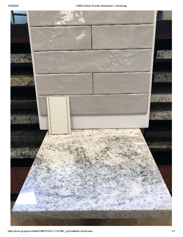 VIN Lot 93 Kitchen Granite, Backsplash,