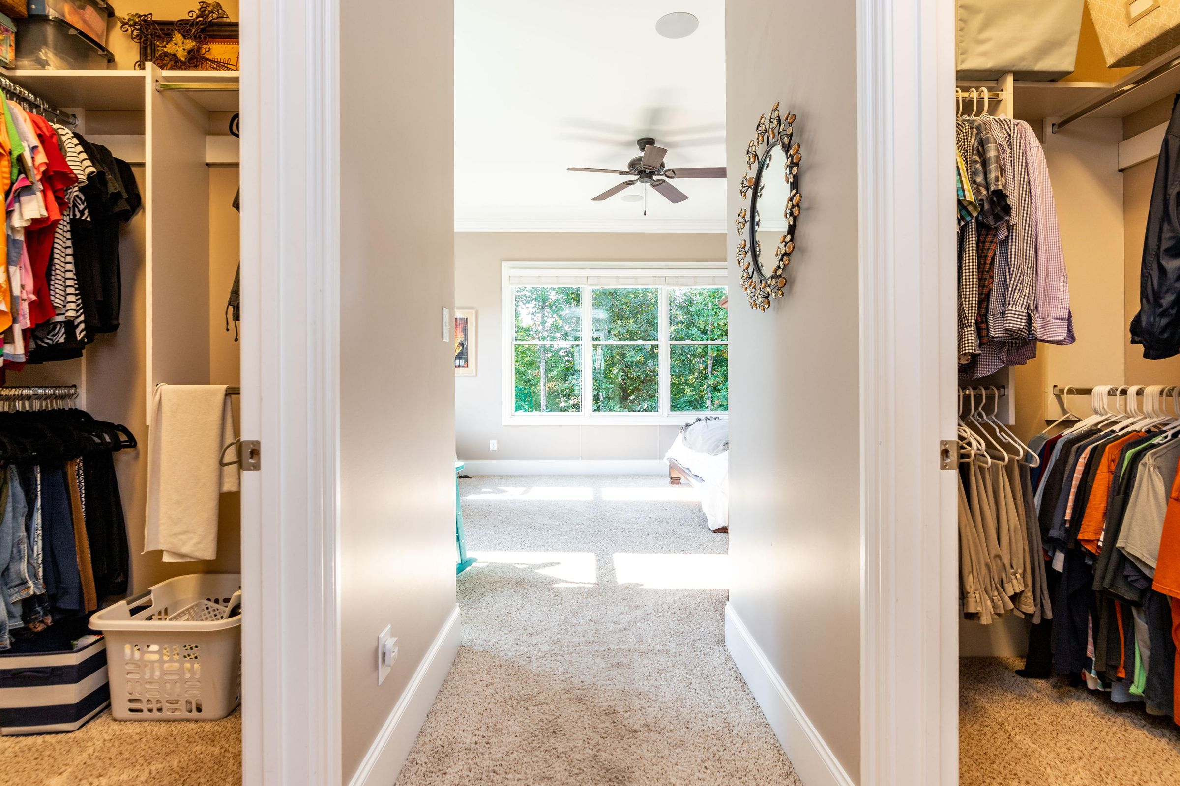 his/hers walk-in closets