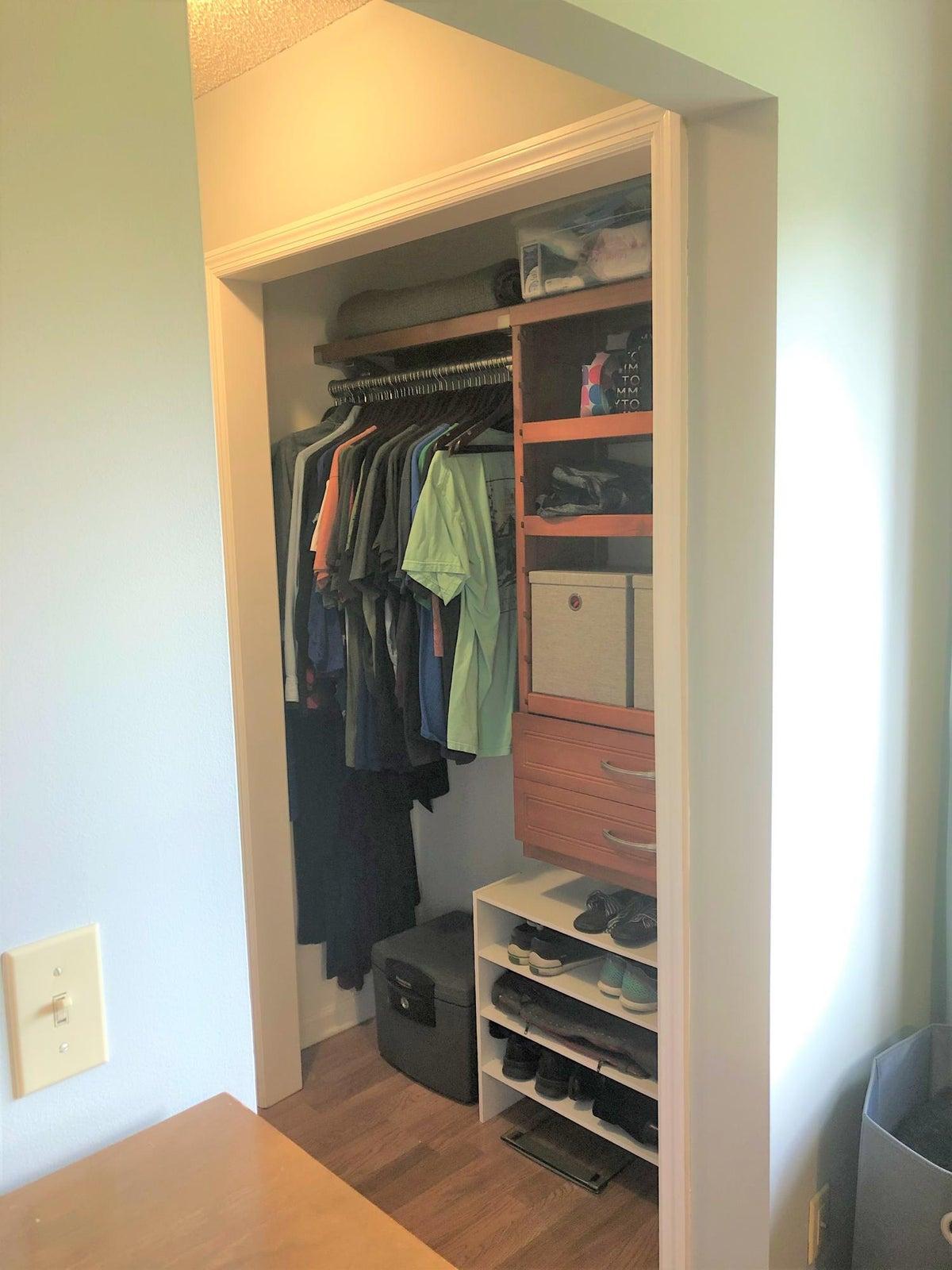 Master closet side 1