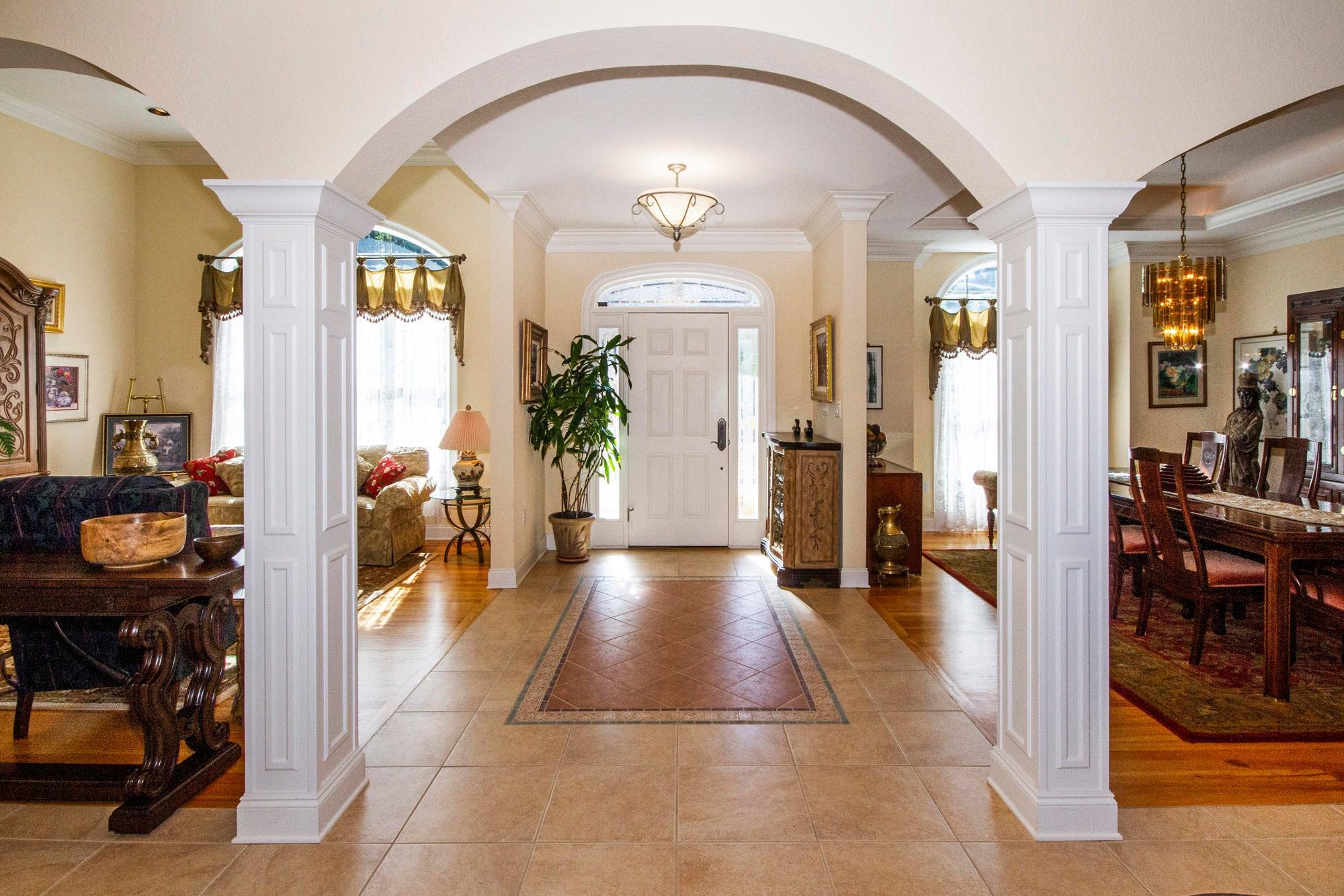 Beautiful Foyer & Millwork!