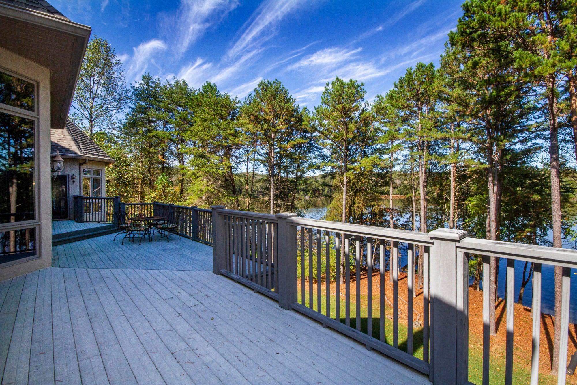 Deck Runs the Length of Home!