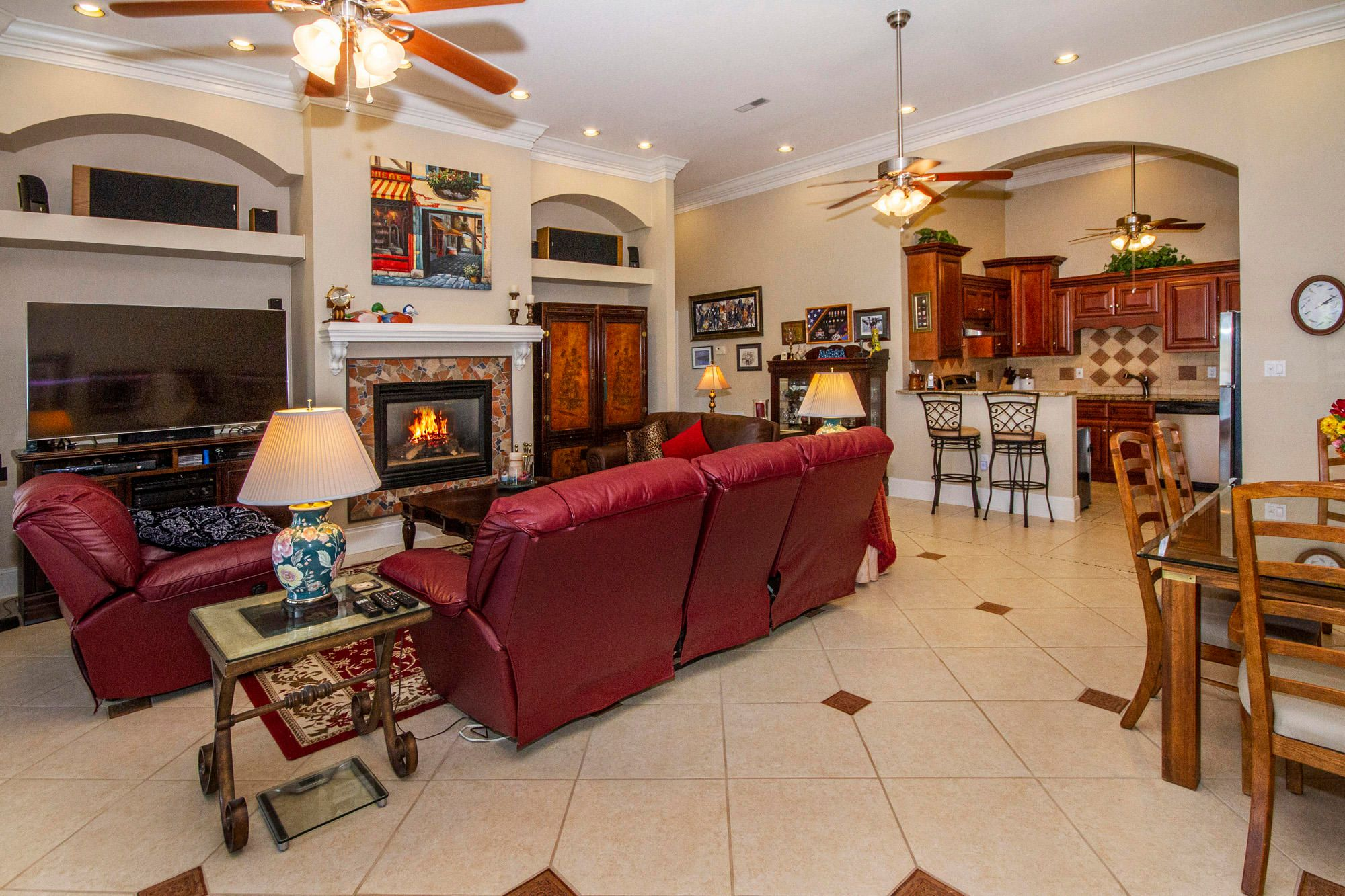 Gas Fireplace & Open to 2nd Kitchen