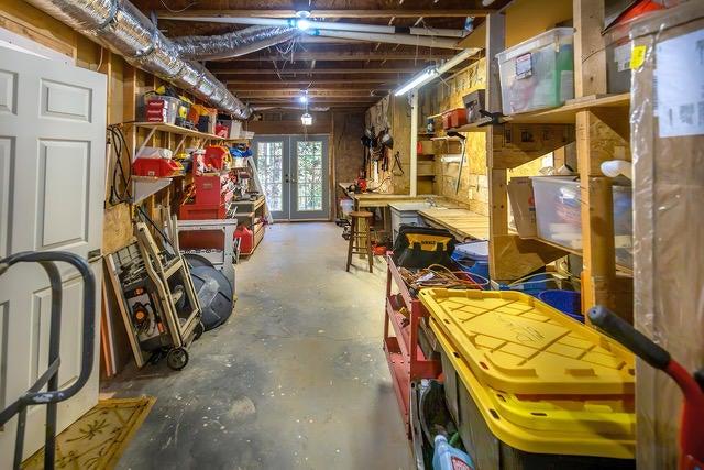 Work Room & Golf Cart Room