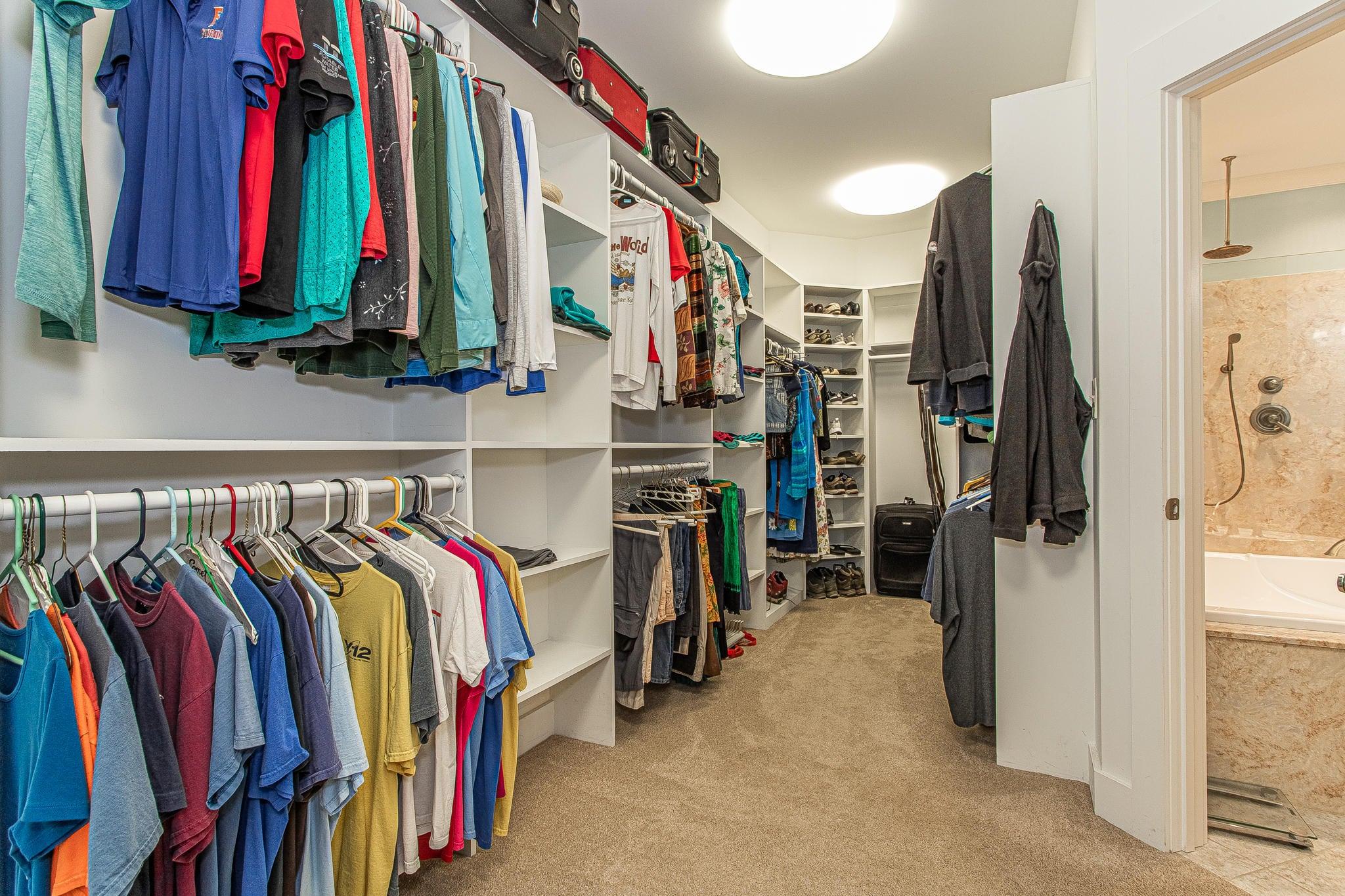 Large Walk-in Master Closet