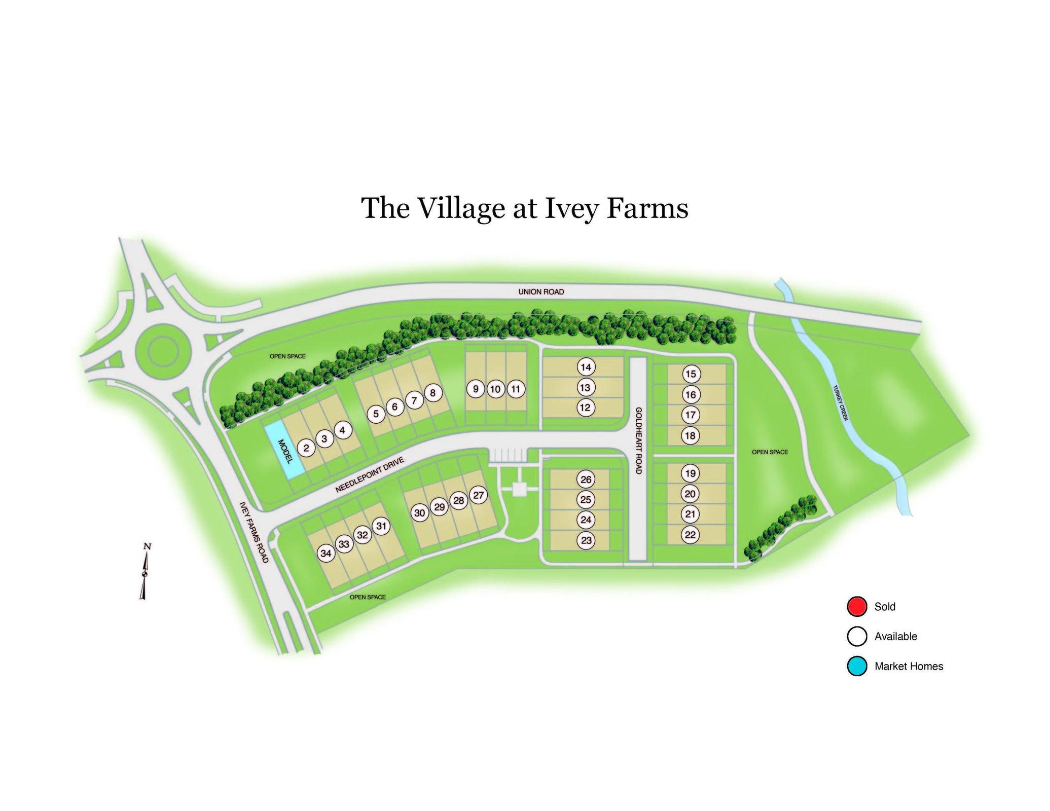 Ivey Village Plat Map