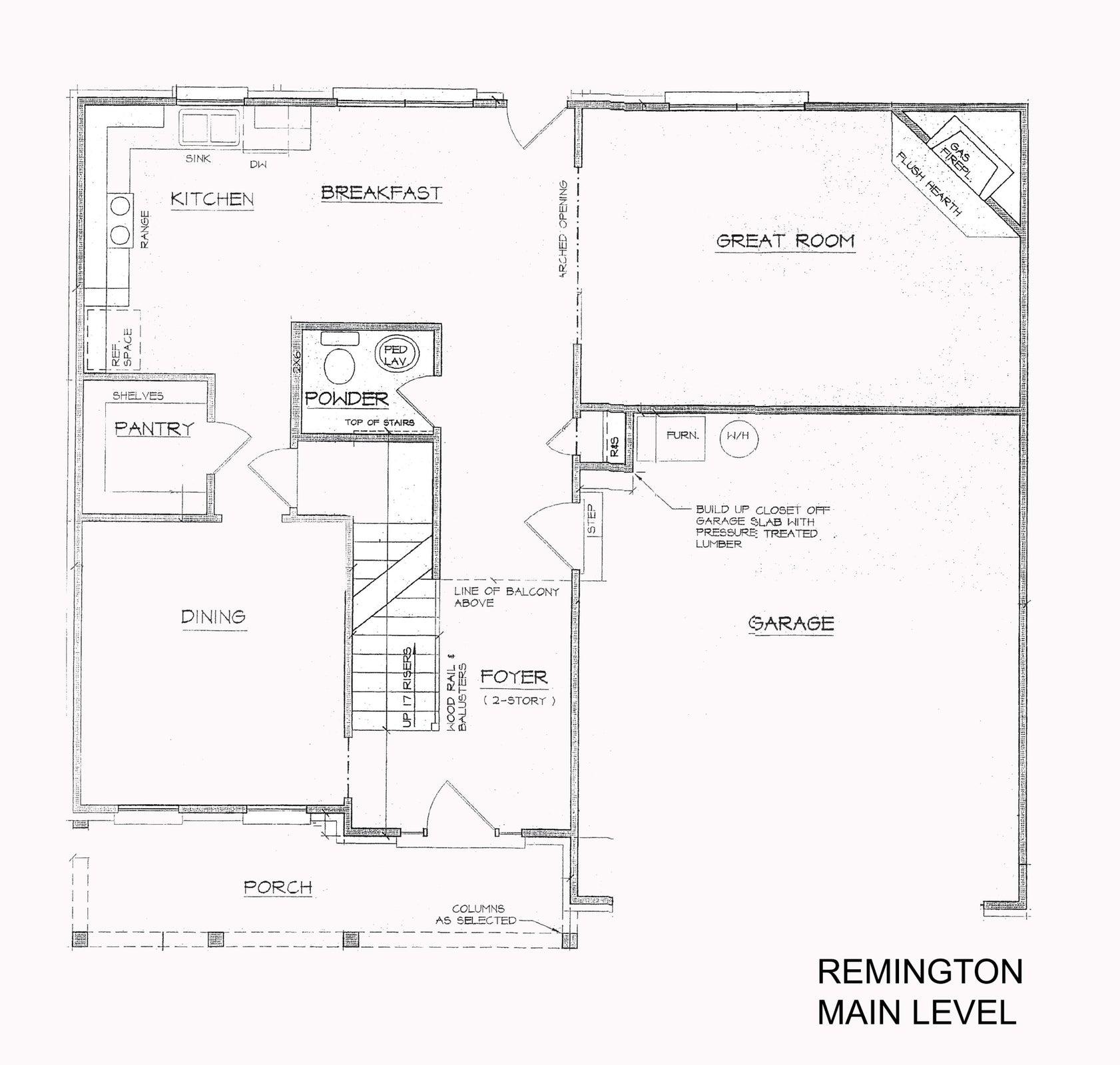 main floor Remington