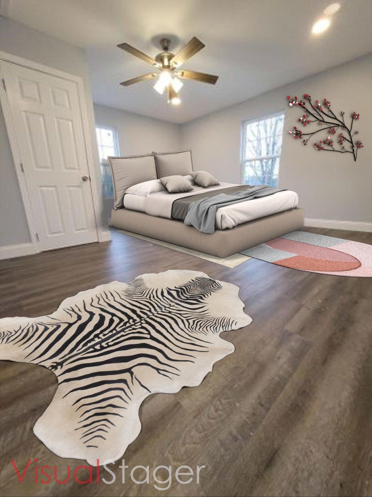 Virtual staged master bedroom