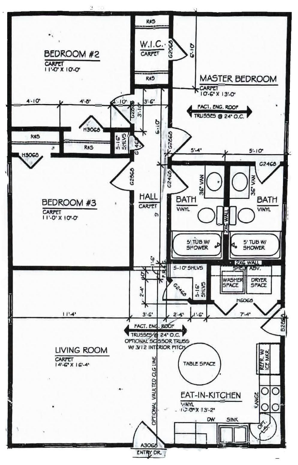 The Edison floor plan flyers