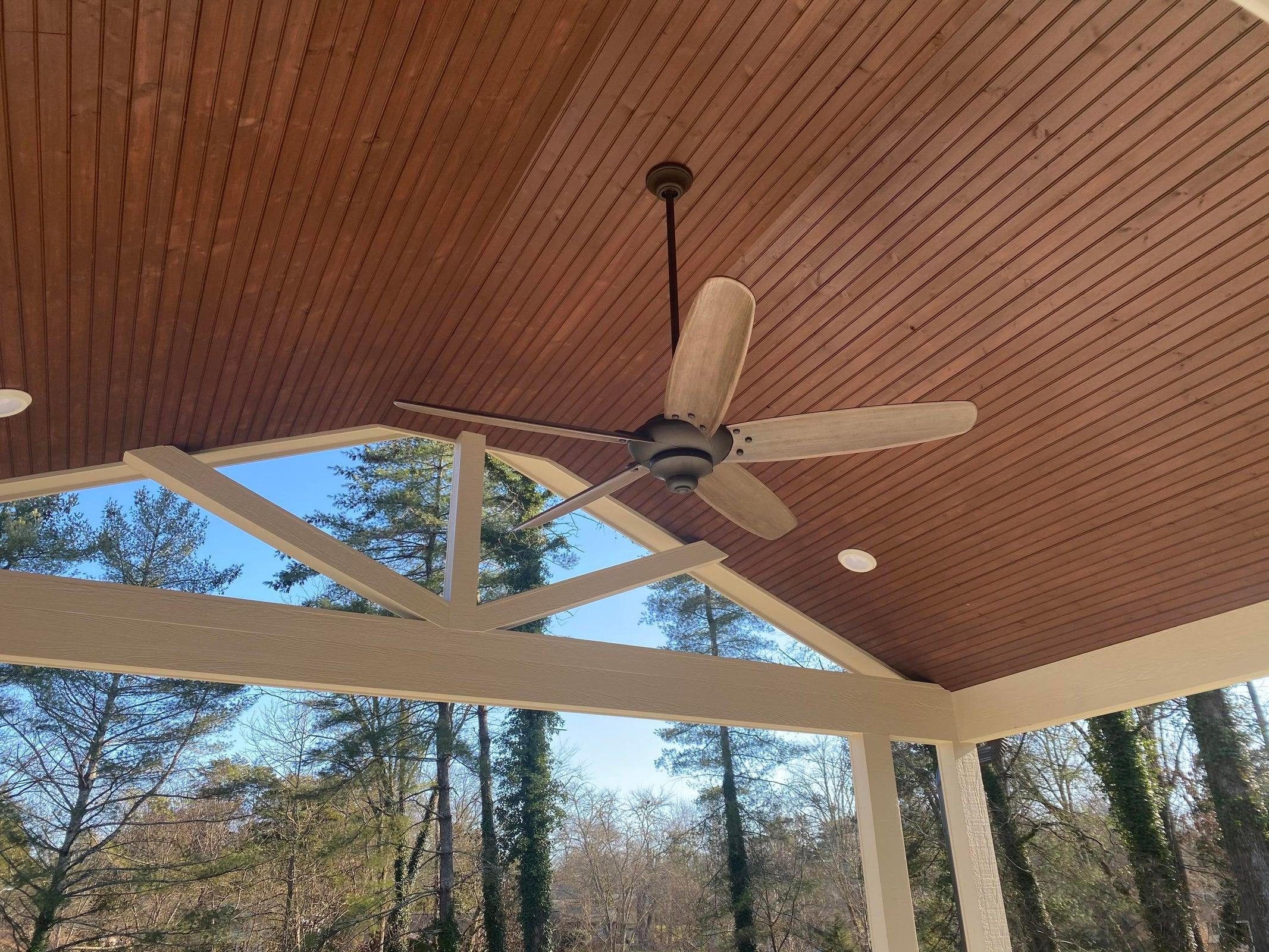Custom covered back porch