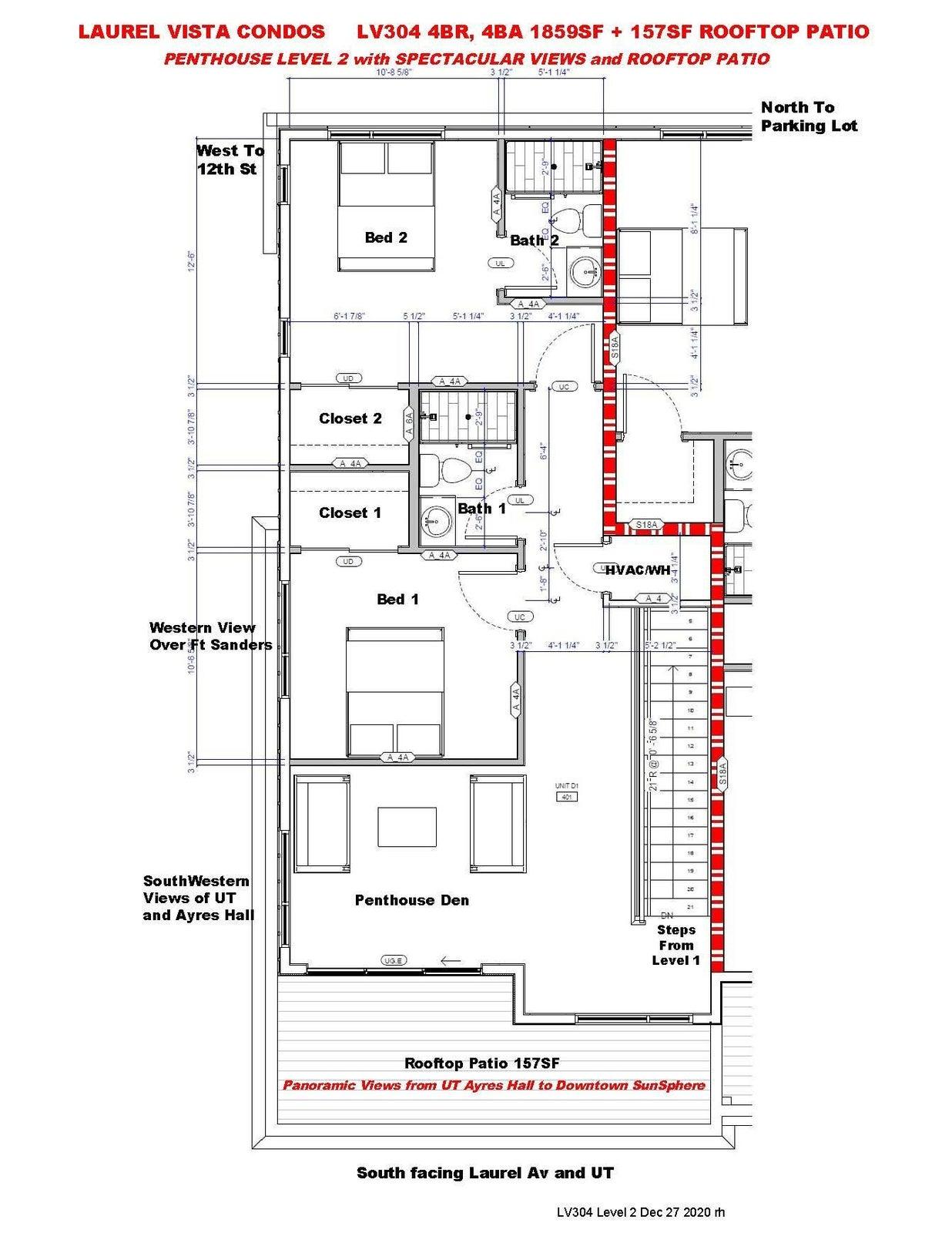 LV304 4BR,4BA Penthouse Level 2 - Floorp