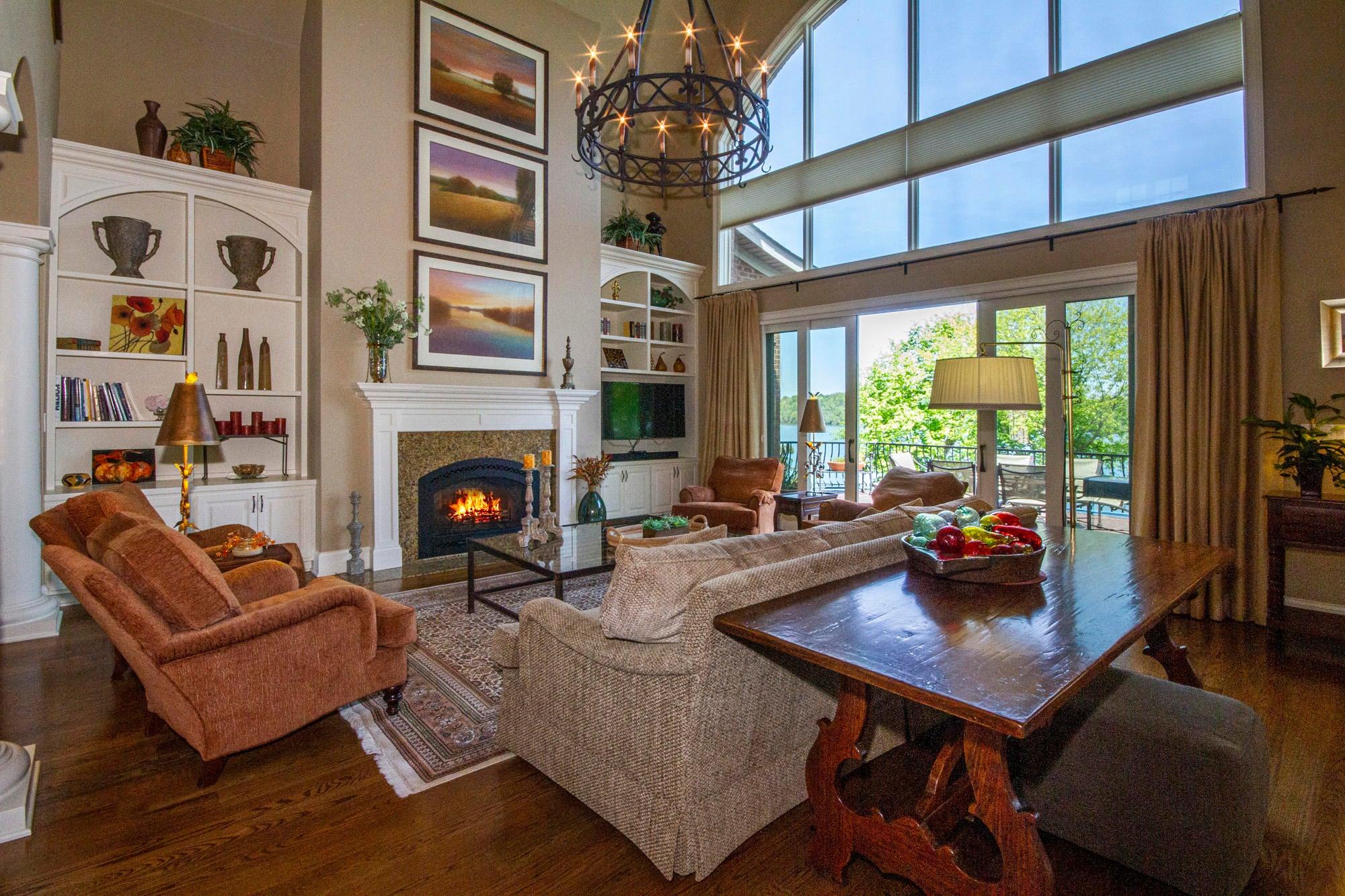 Light & Bright 2-Story Living Room