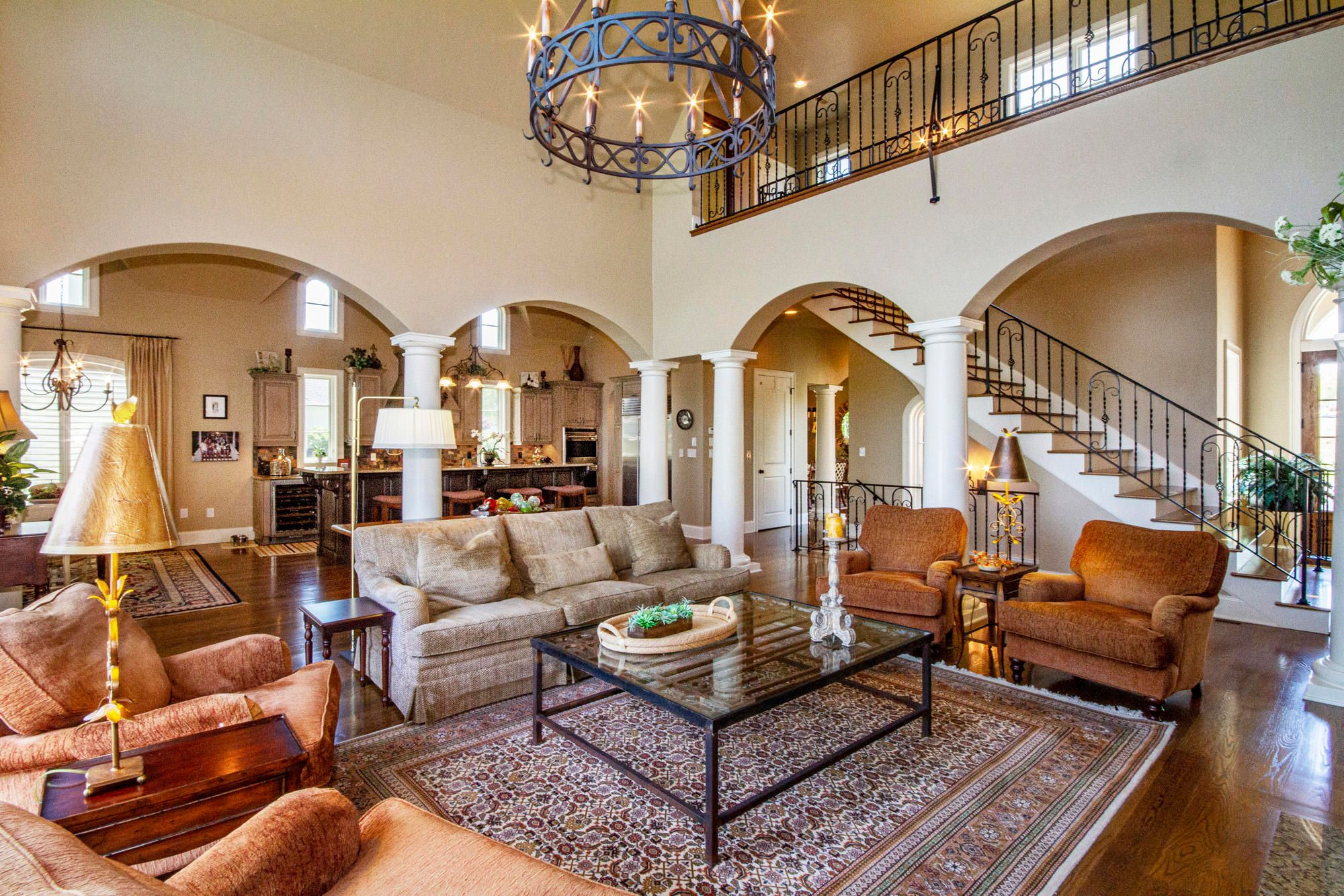 Lovely Arches & Wrought Iron Accents