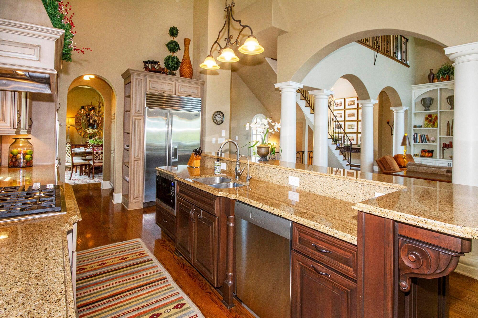 Sub-Zero Fridge & Cookbook Shelf!