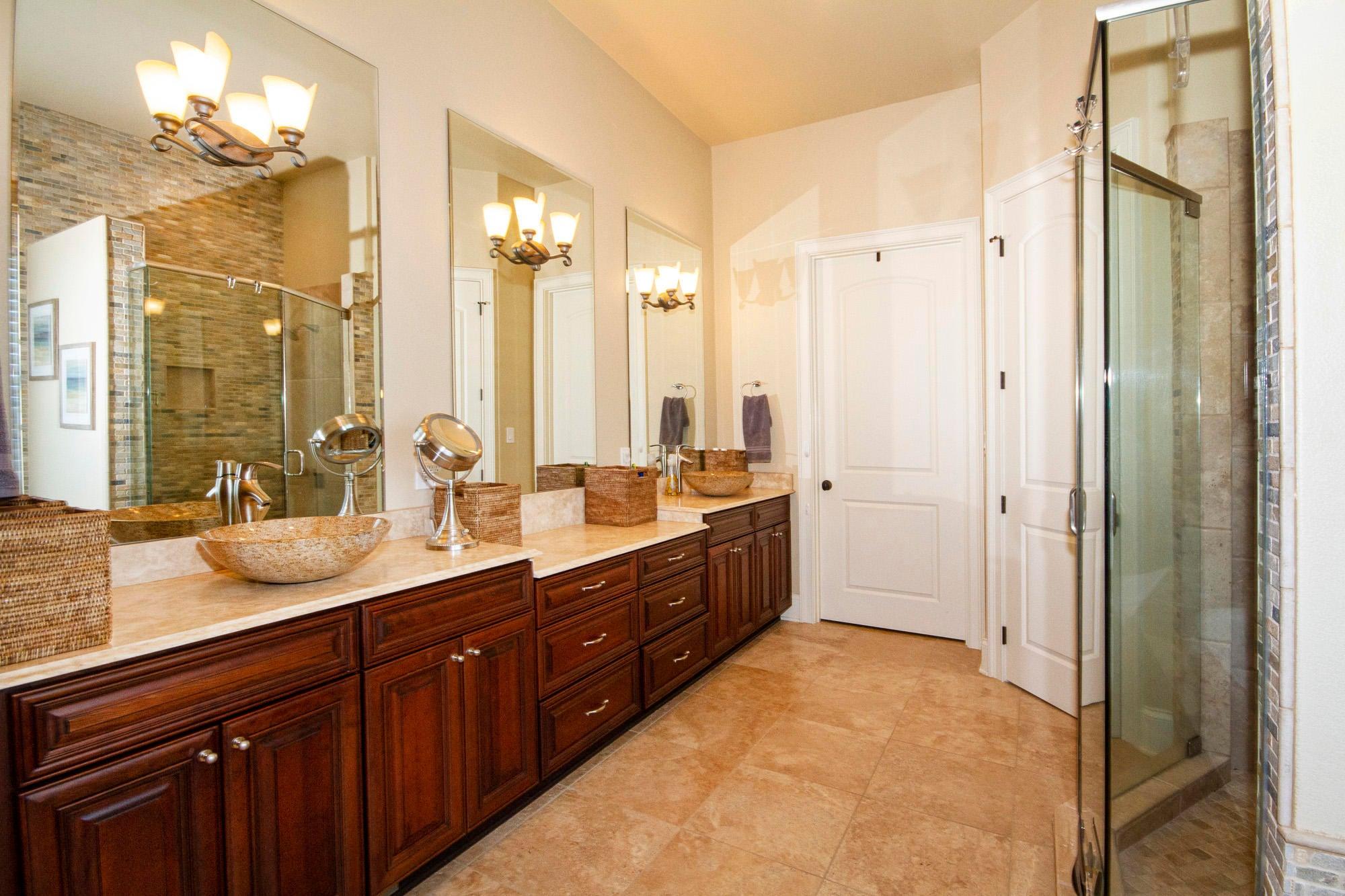 Heated Floors & Vessel Sinks