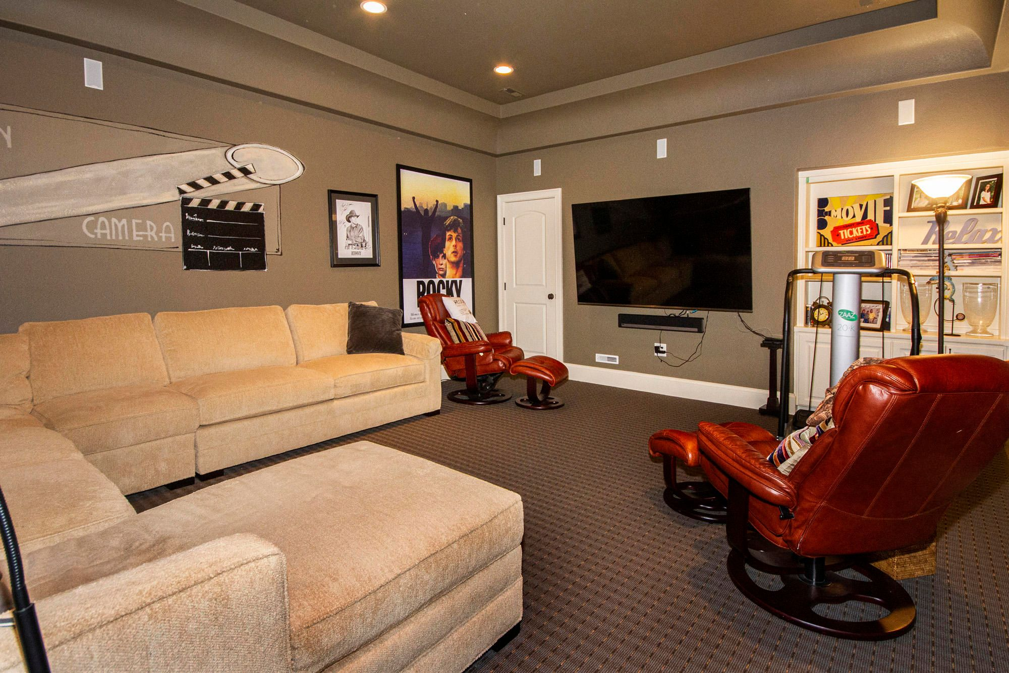 Home Theater with Surround Sound!