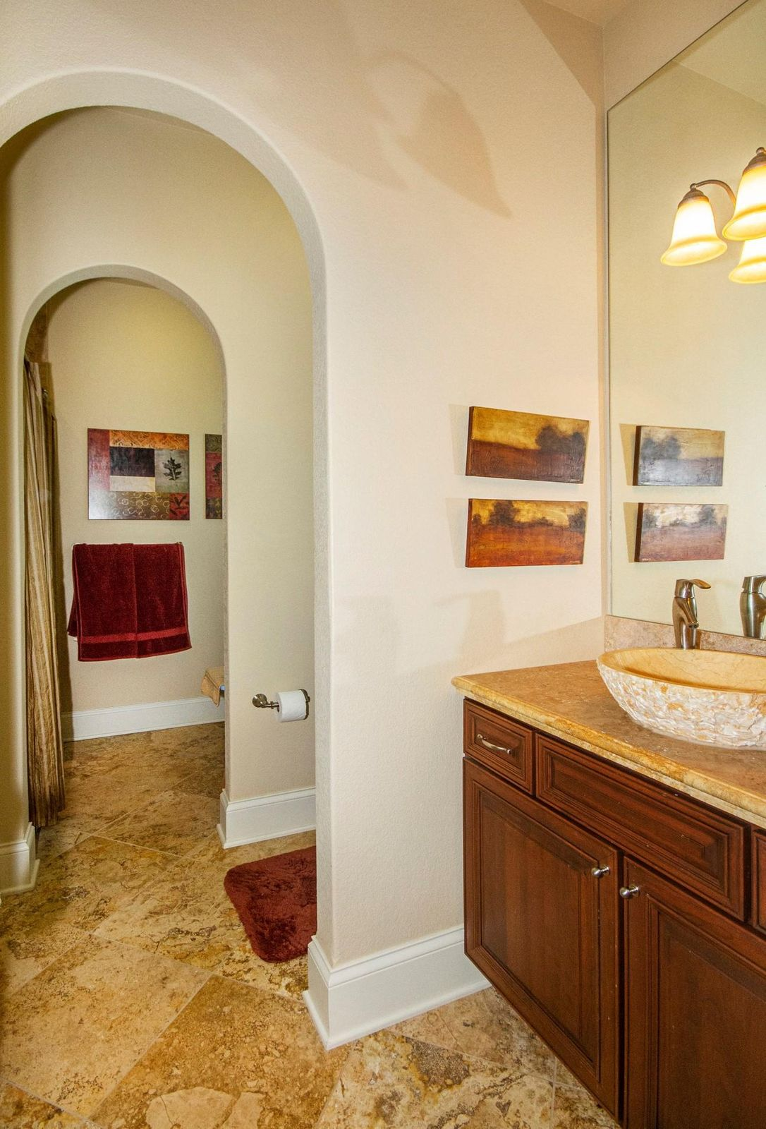 Bath with Private Shower/Dressing Area!