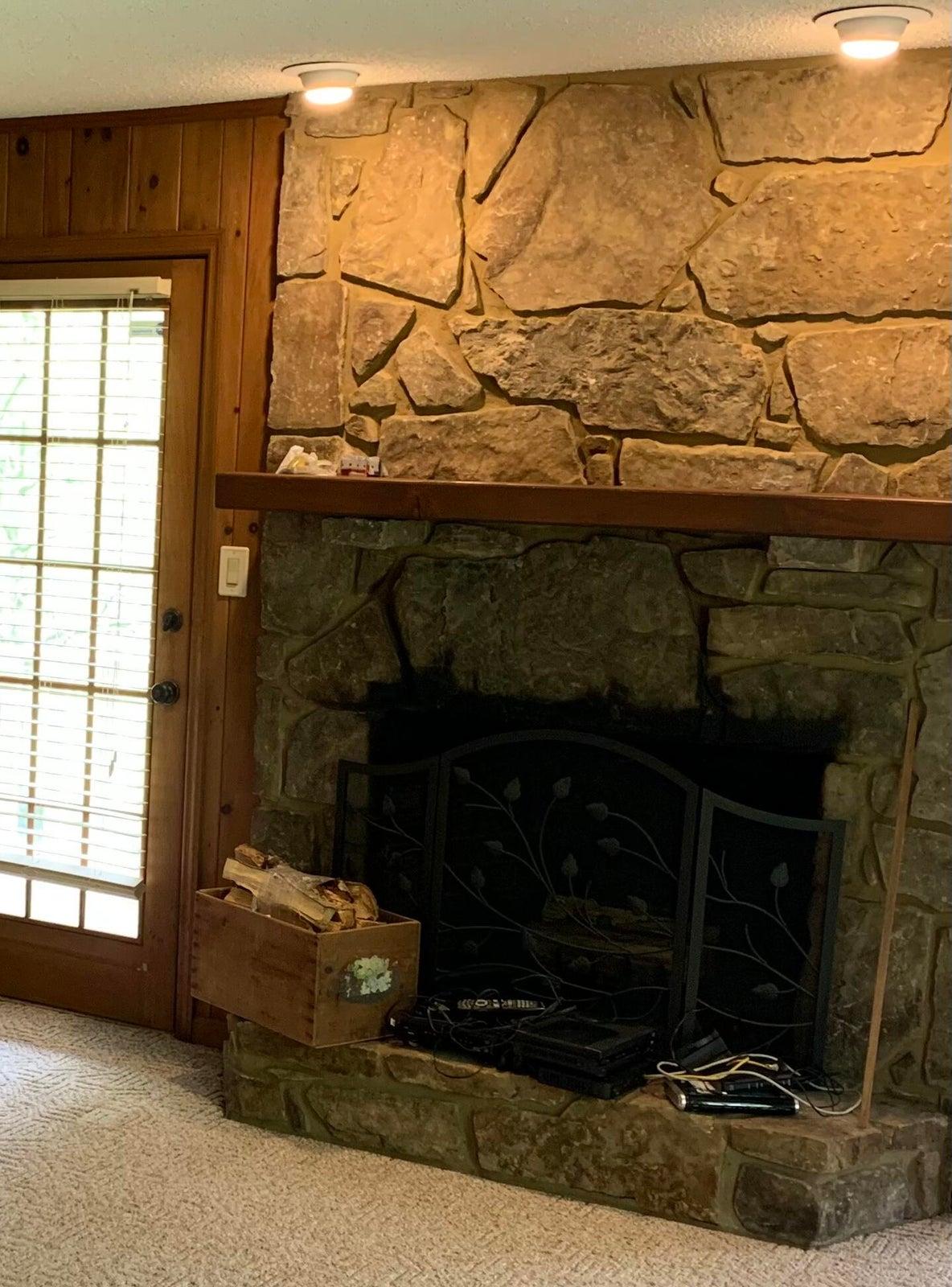 Office/Wood Fireplace