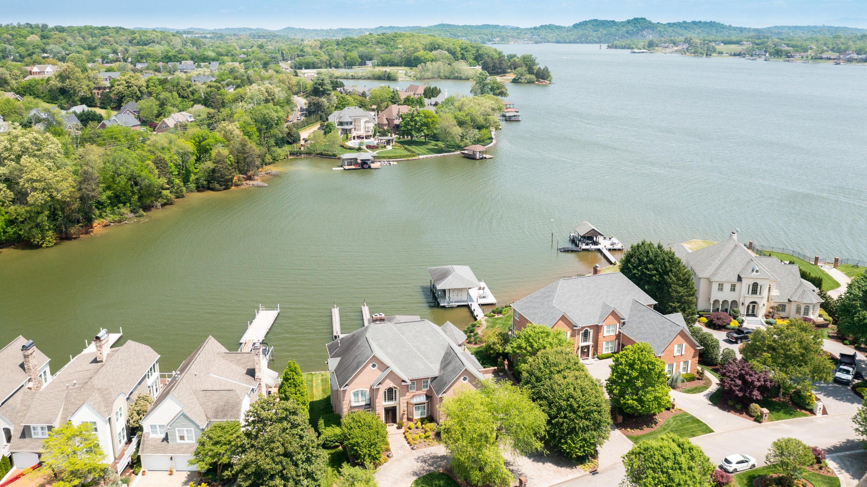 aerial water views