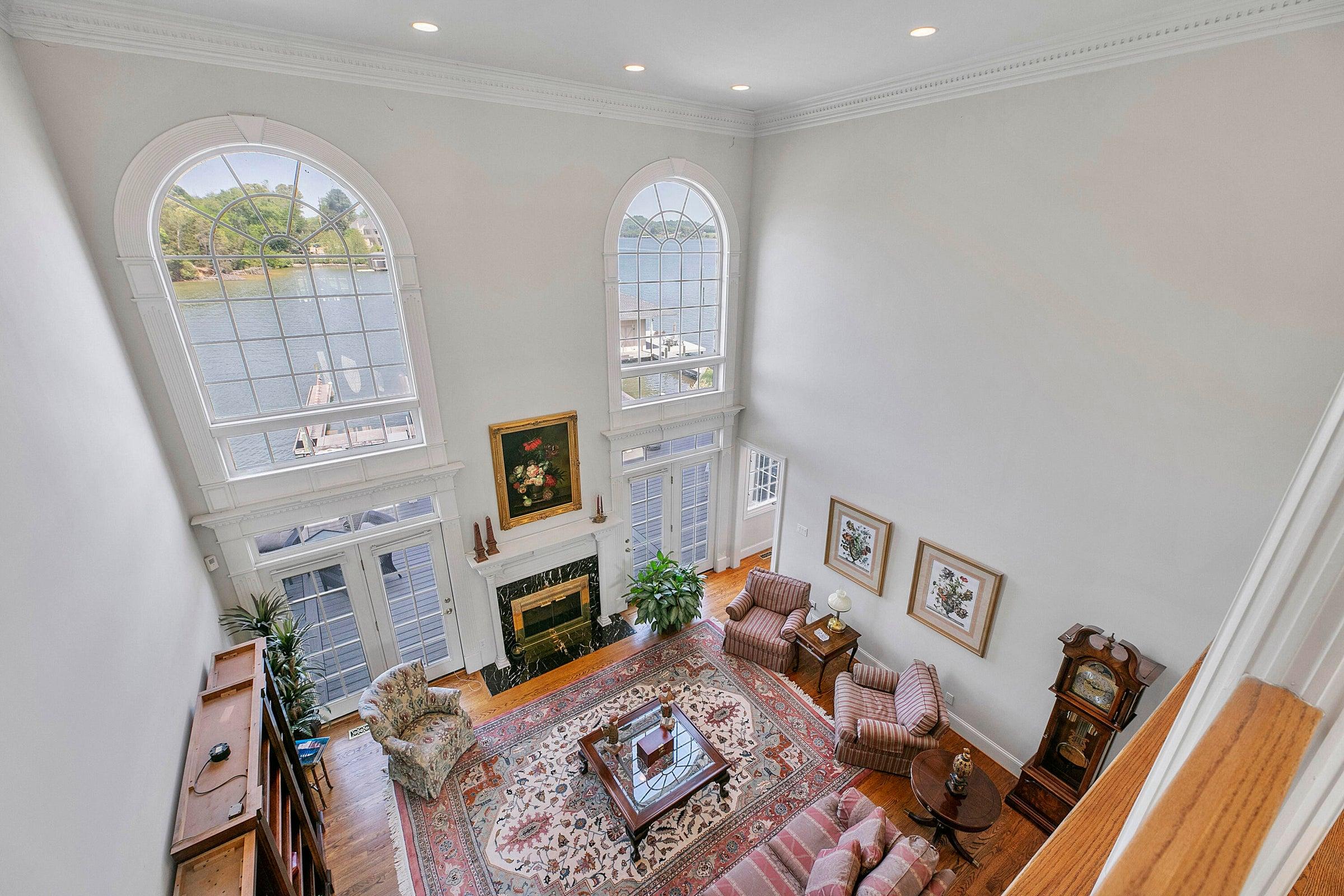 2nd floor view of living room