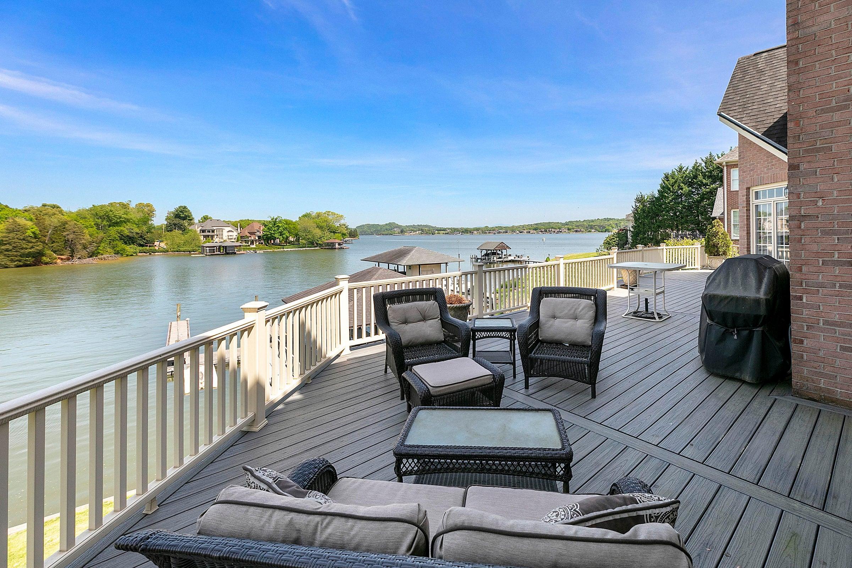 deck overlooking water