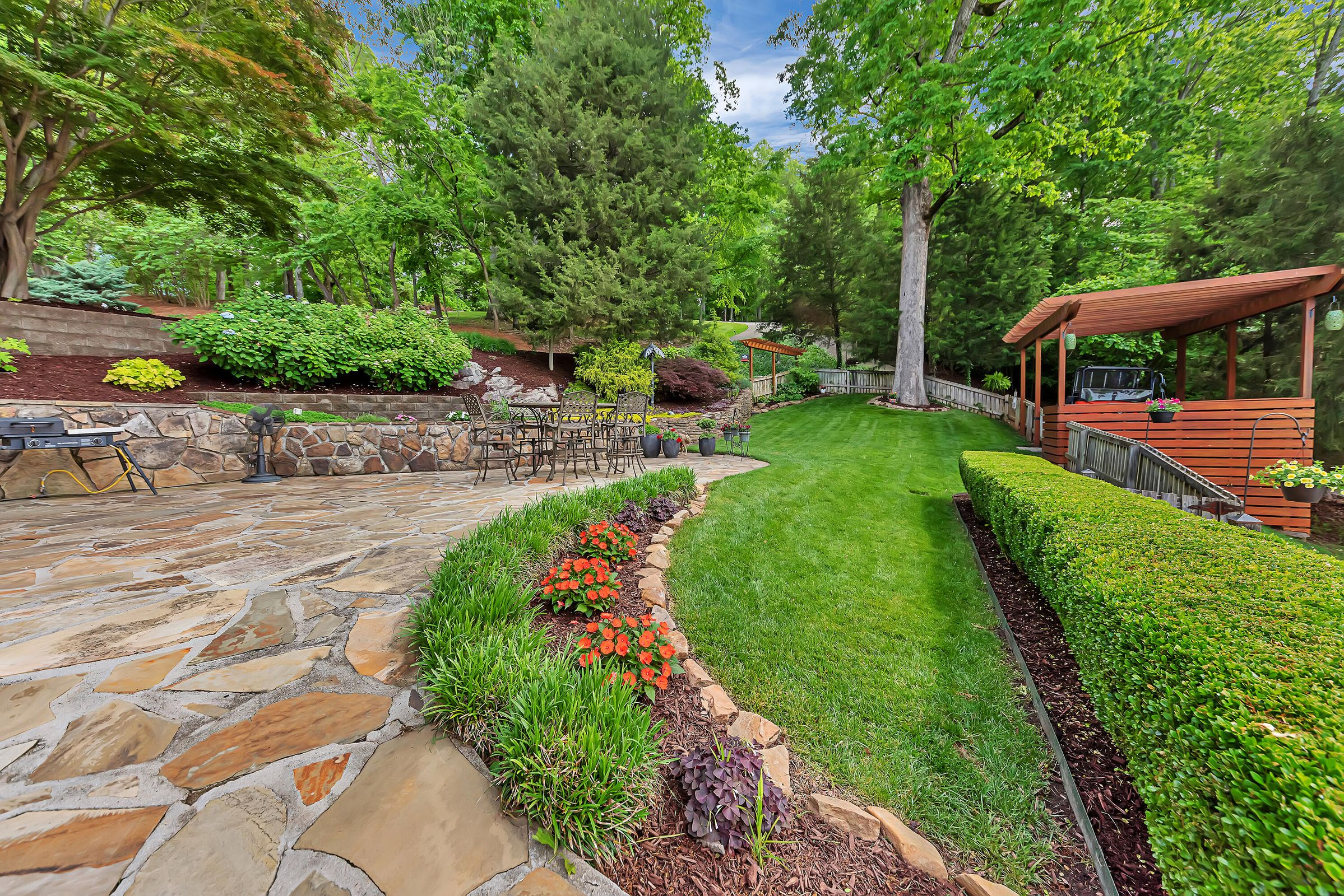 Yard with Mature Landscaping